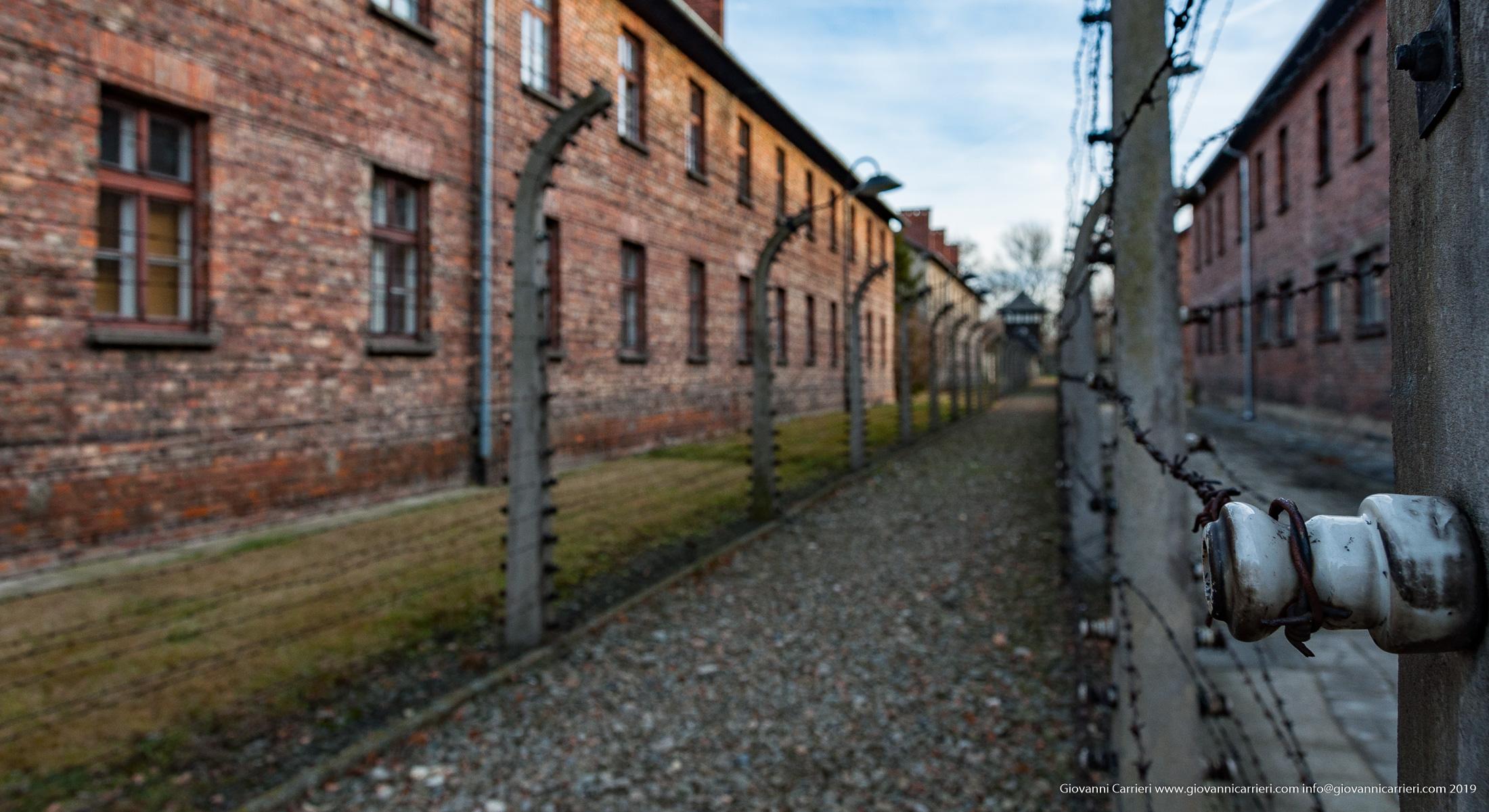 Filo spinato elettrificato - Auschwitz