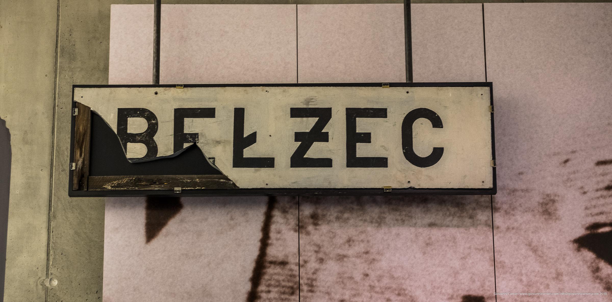 L''insegna della stazione di Belzec
