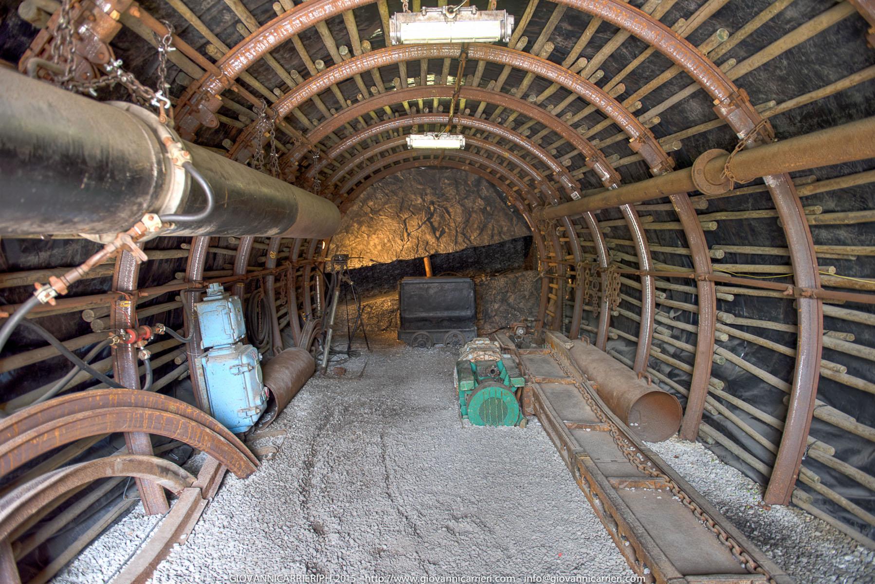 Esempio dell'interno della miniera ai tempi del disastro - Marcinelle