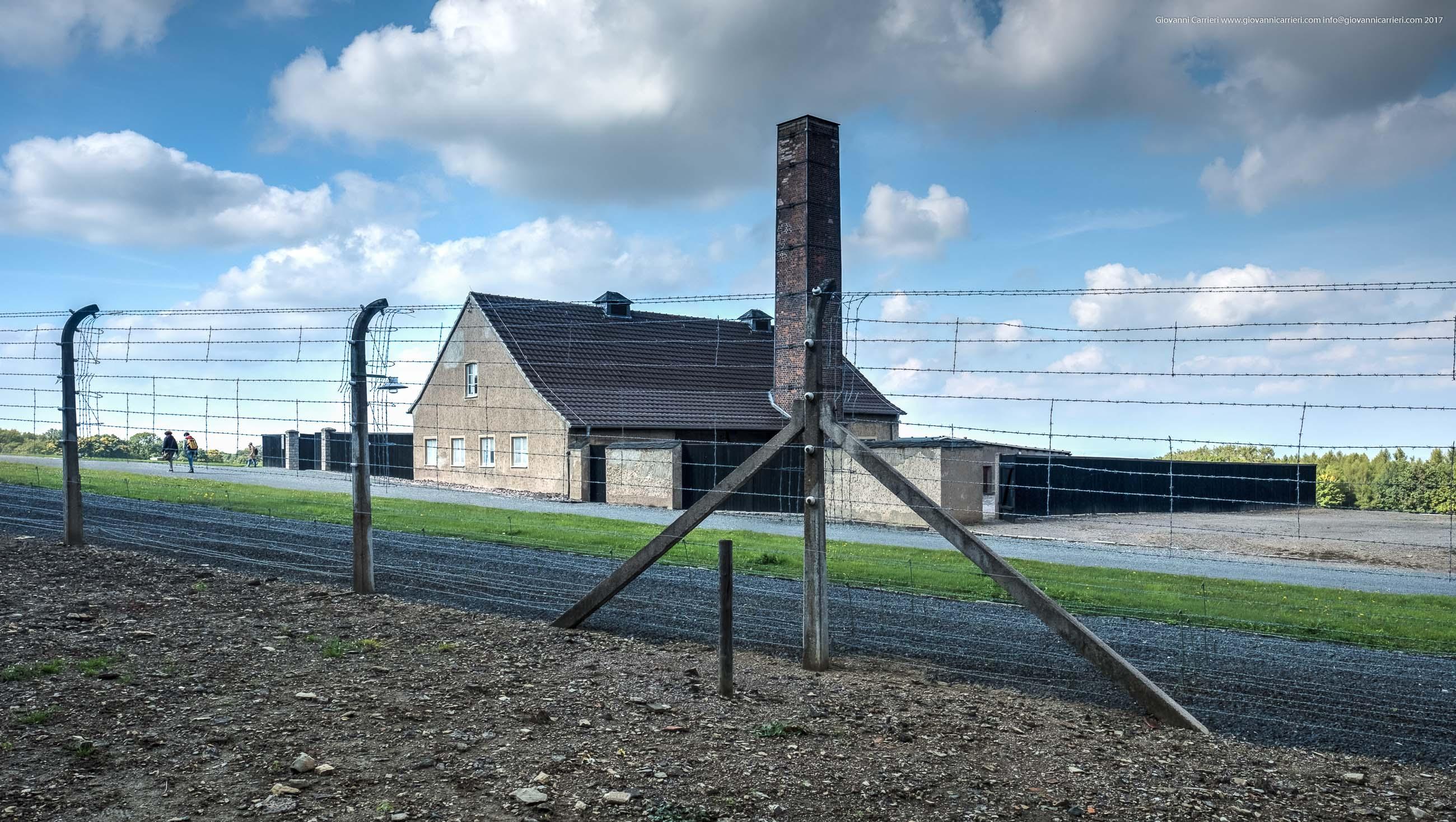 Vista esterna del crematorio di Buchenwald