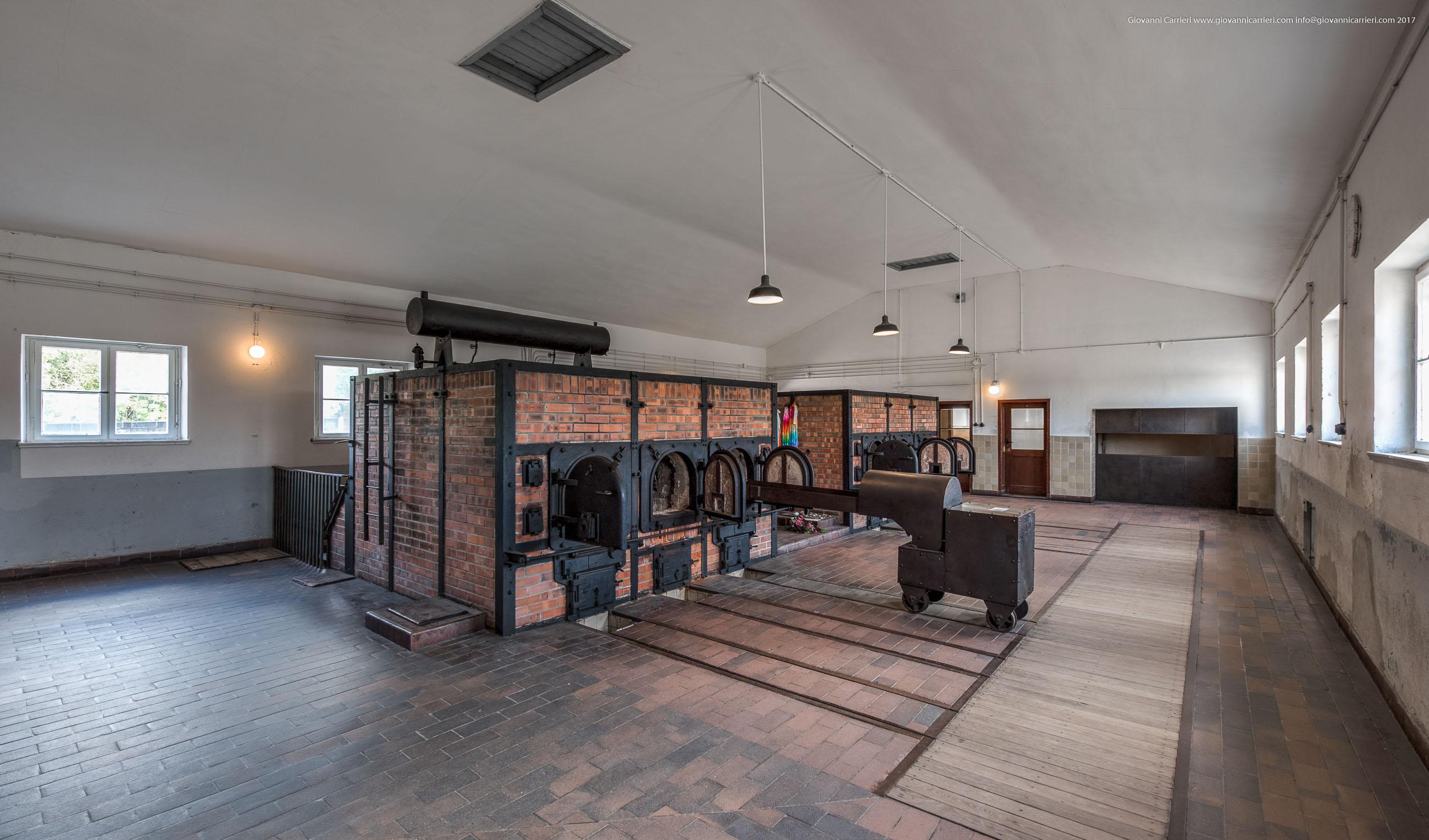 Interno del crematorio di Buchenwald