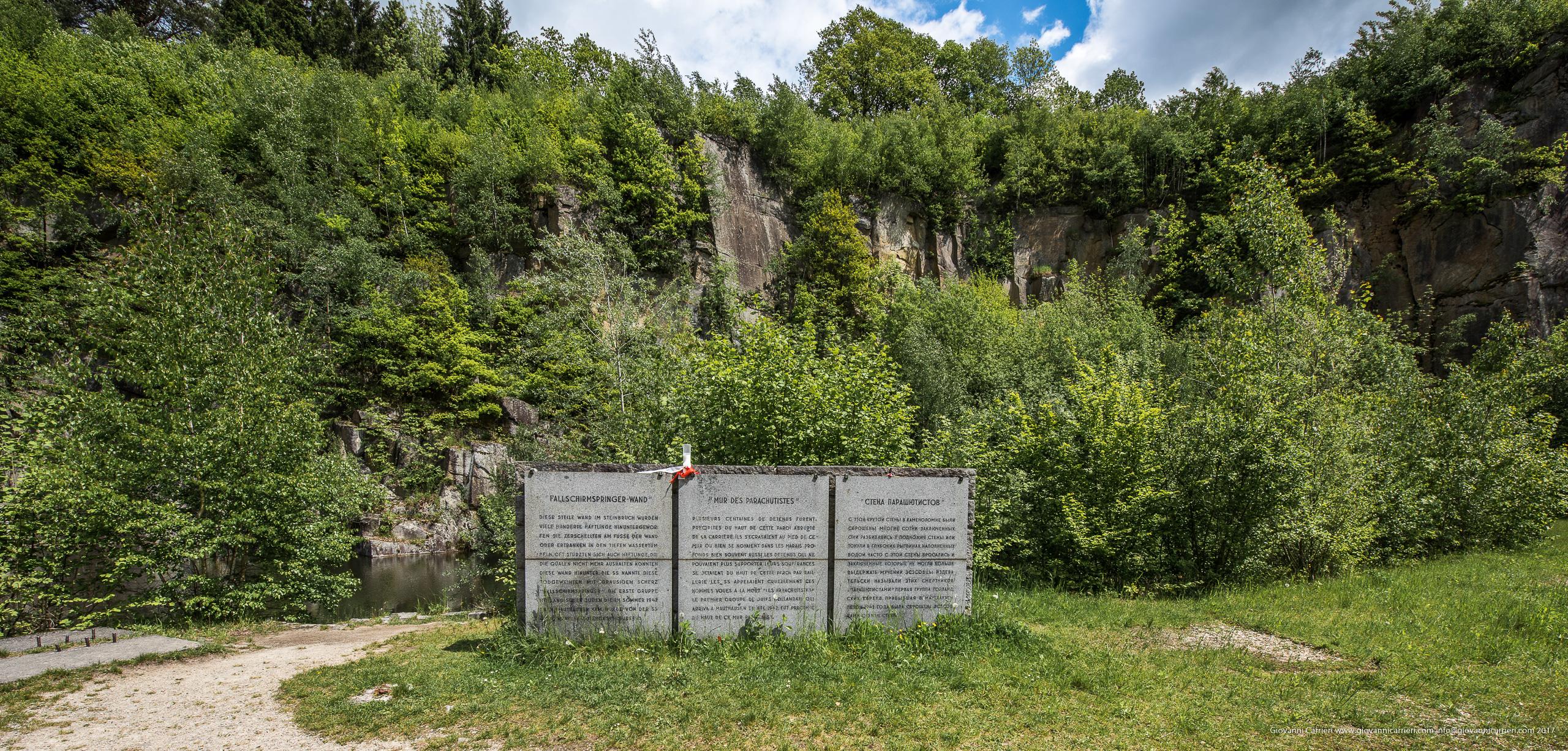 Il muro dei paracadutisti. Qui si suicidavano i prigioneri esausti. Mauthausen
