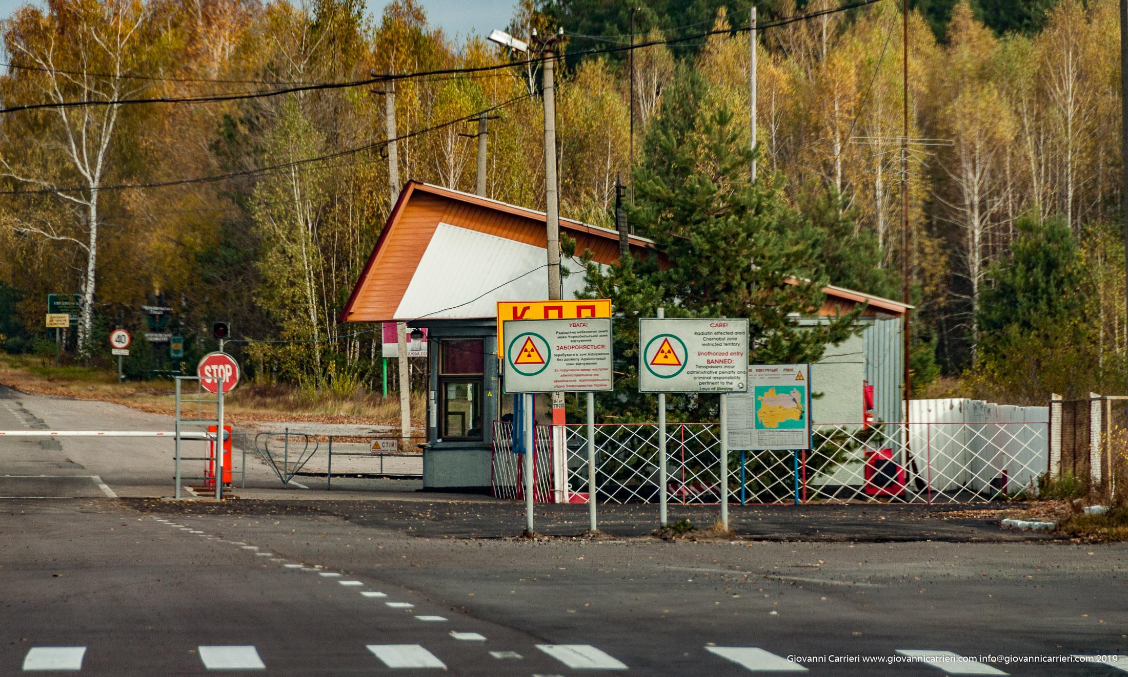 Il varco per la zona di alienazione - Chernobyl