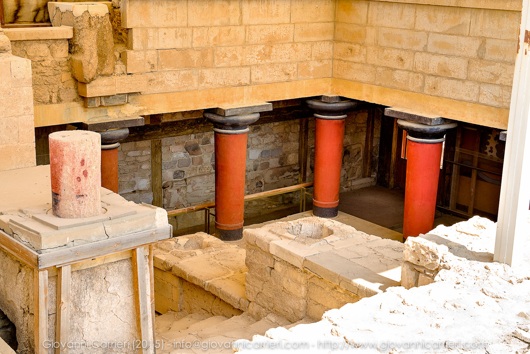 Details of Knossos palace