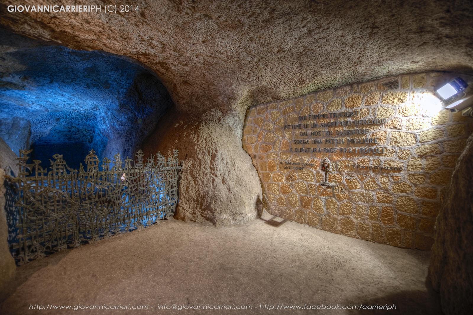La grotta dell'eccidio delle Fosse Ardeatine