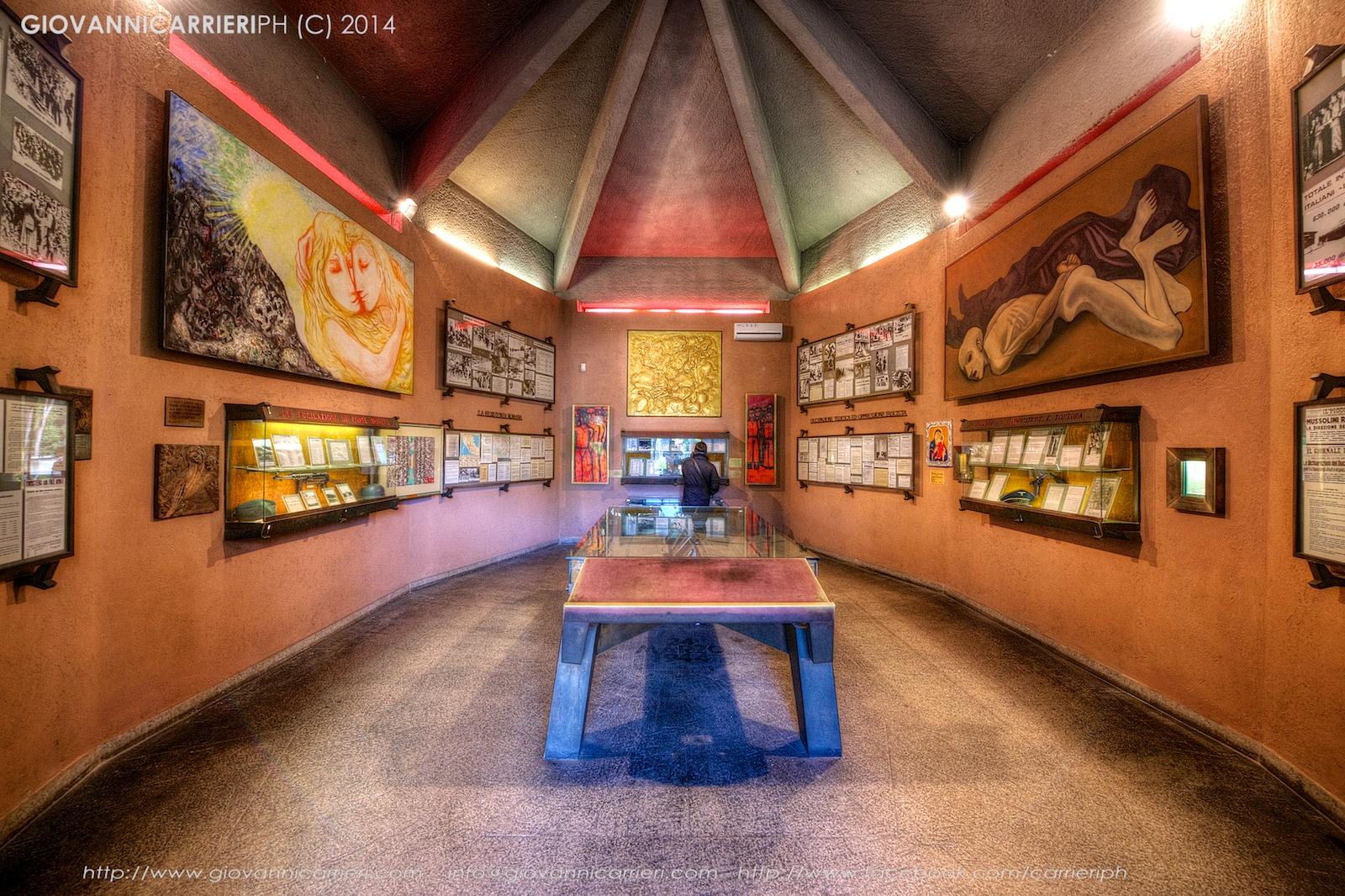 Il museo all'interno del sacrario delle Fosse Ardeatine - Roma