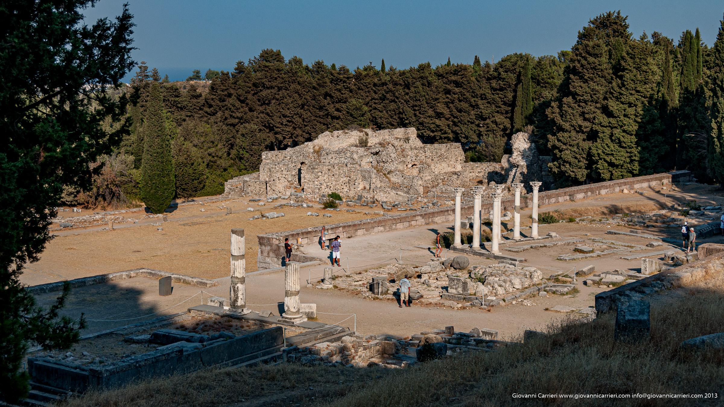 Vista panoramica sulle rovine dell'Asclepeion - Kos