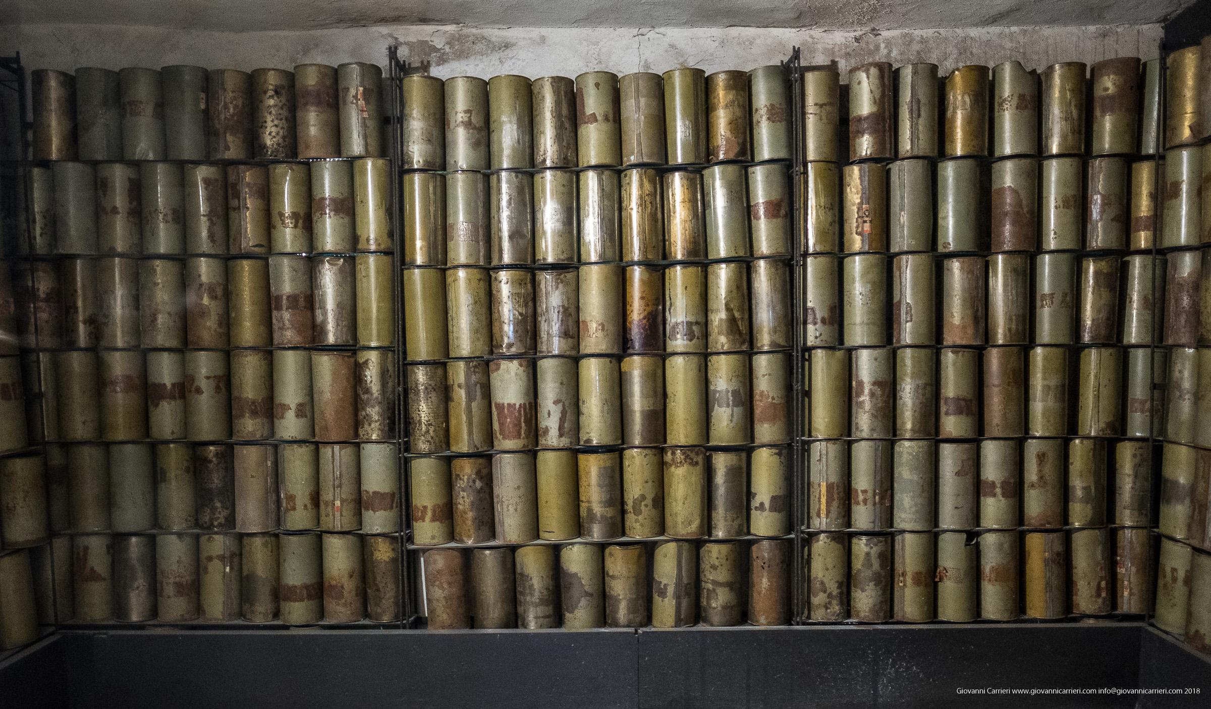 I contenitori del gas utilizzato in Majdanek