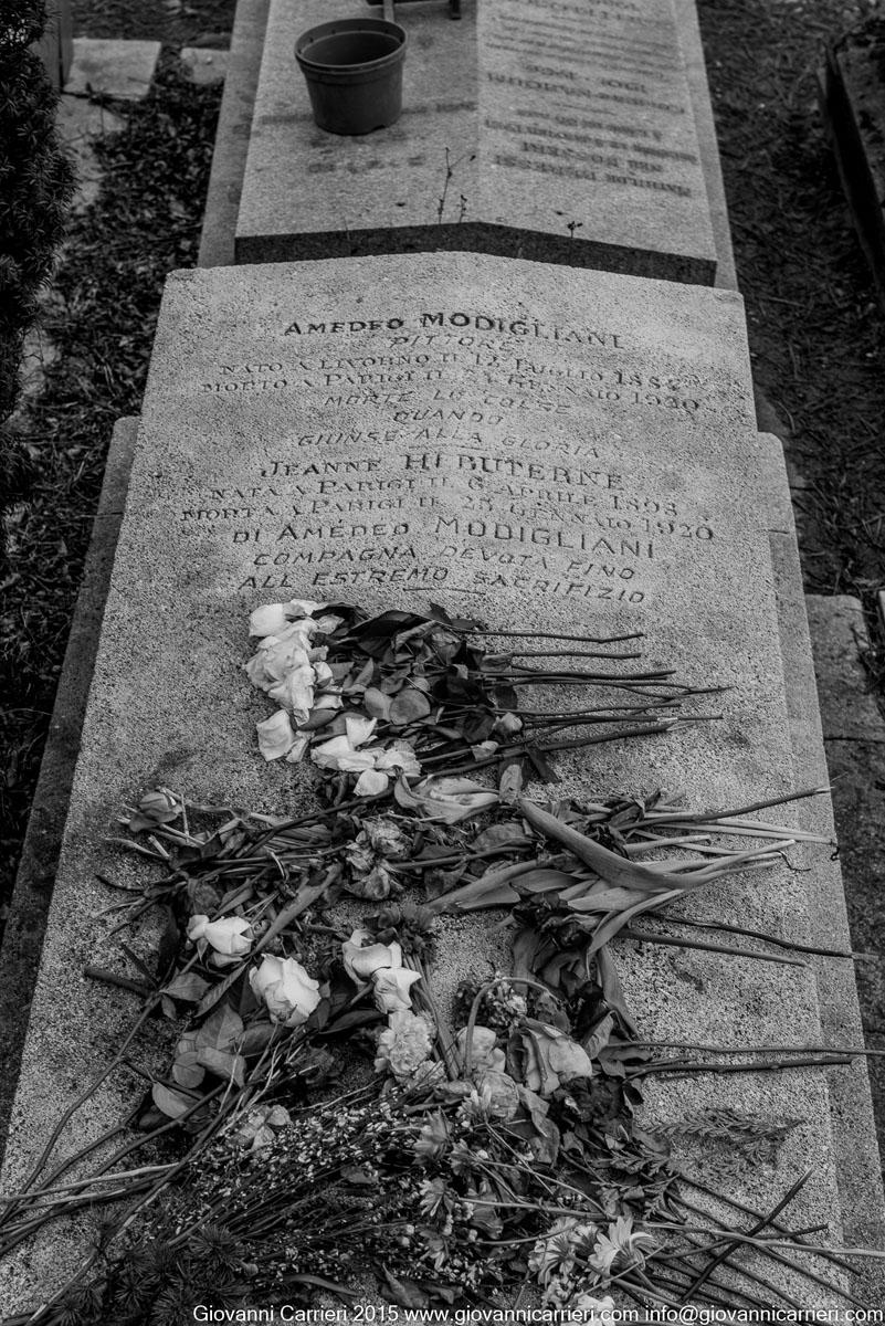 La tomba di Amedeo Modigliani, anche soprannominato  Modí
