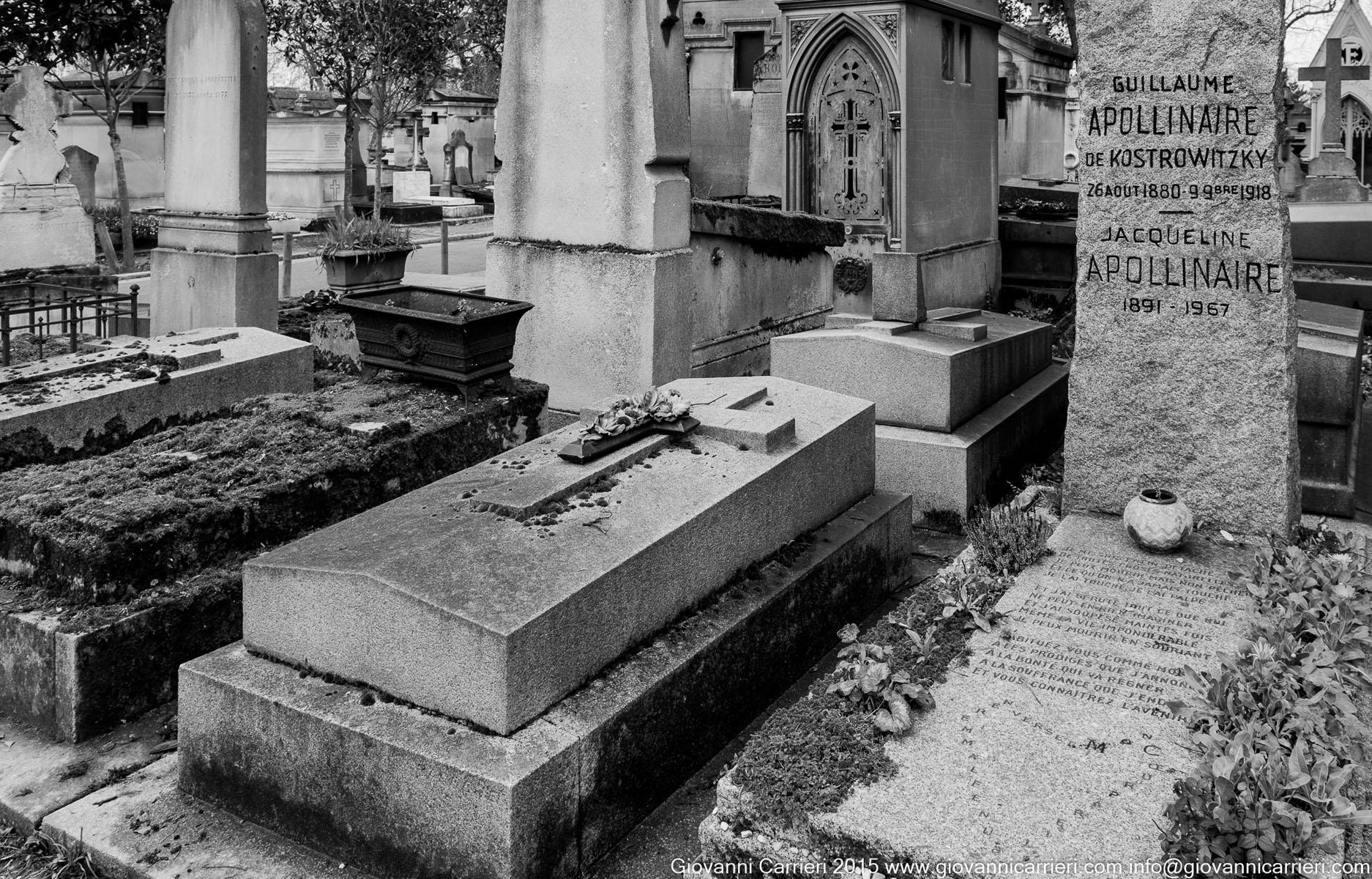 La tomba di Guillaume Apollinaire