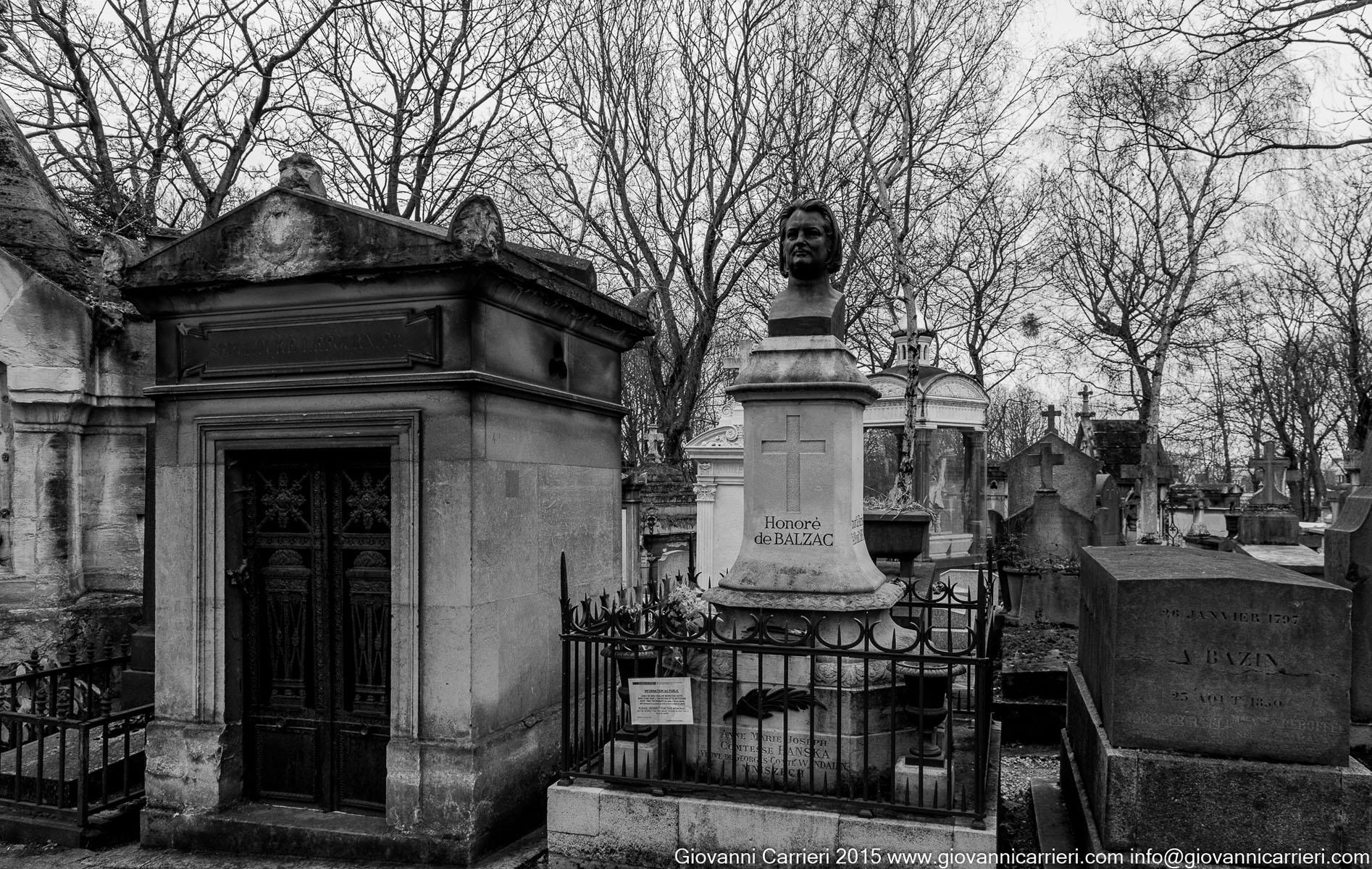La tomba di Honorè de Balzac
