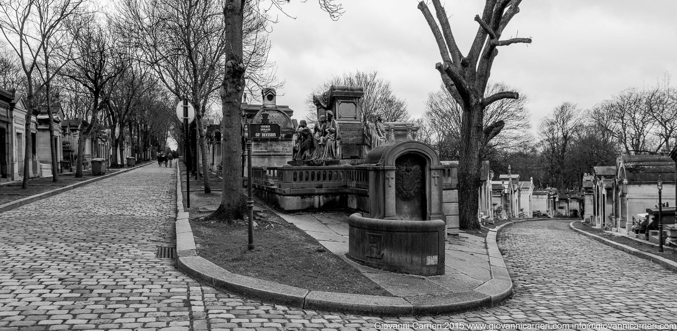 Le strade della divisione 68 nel Père-Lachaise