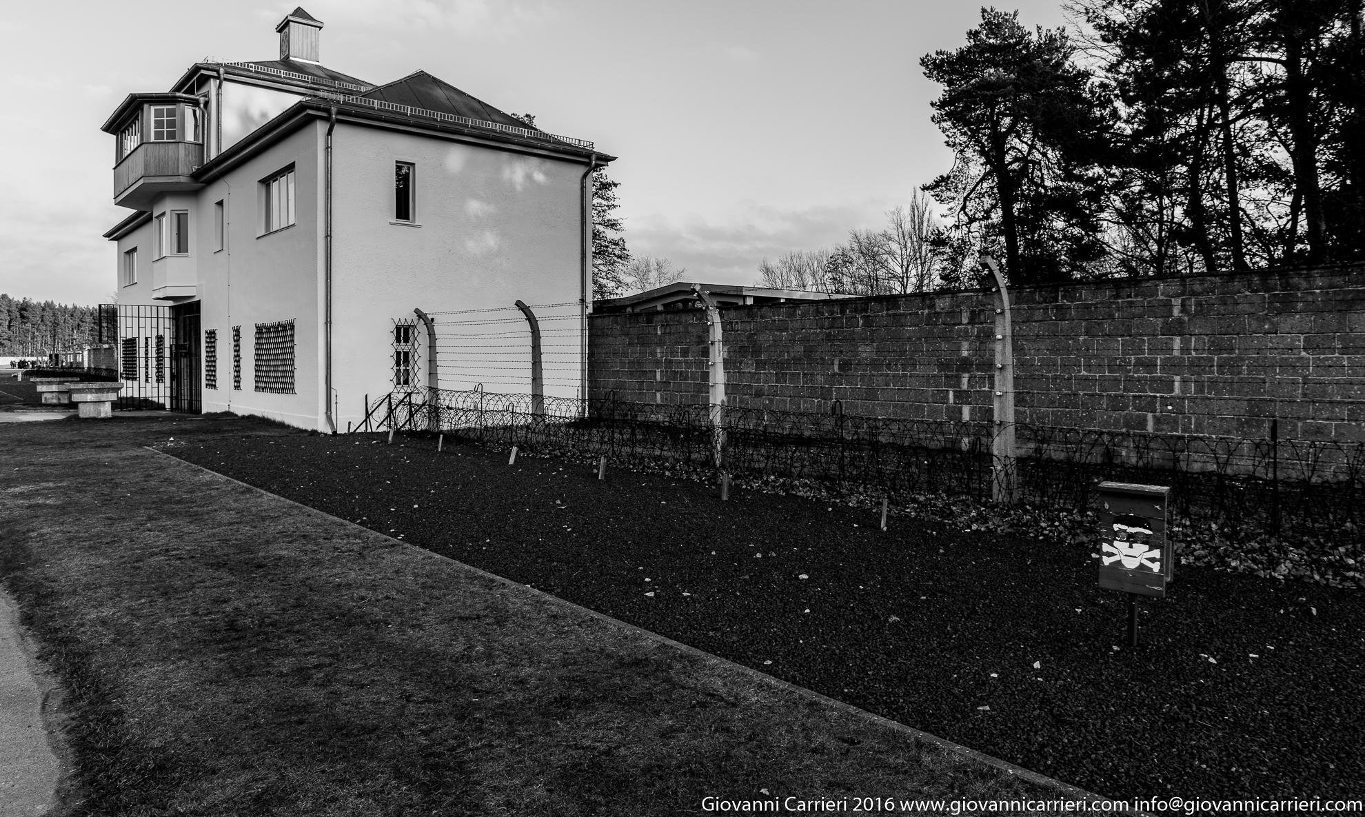 Il perimetro del campo di concentramento di Sachsenhausen