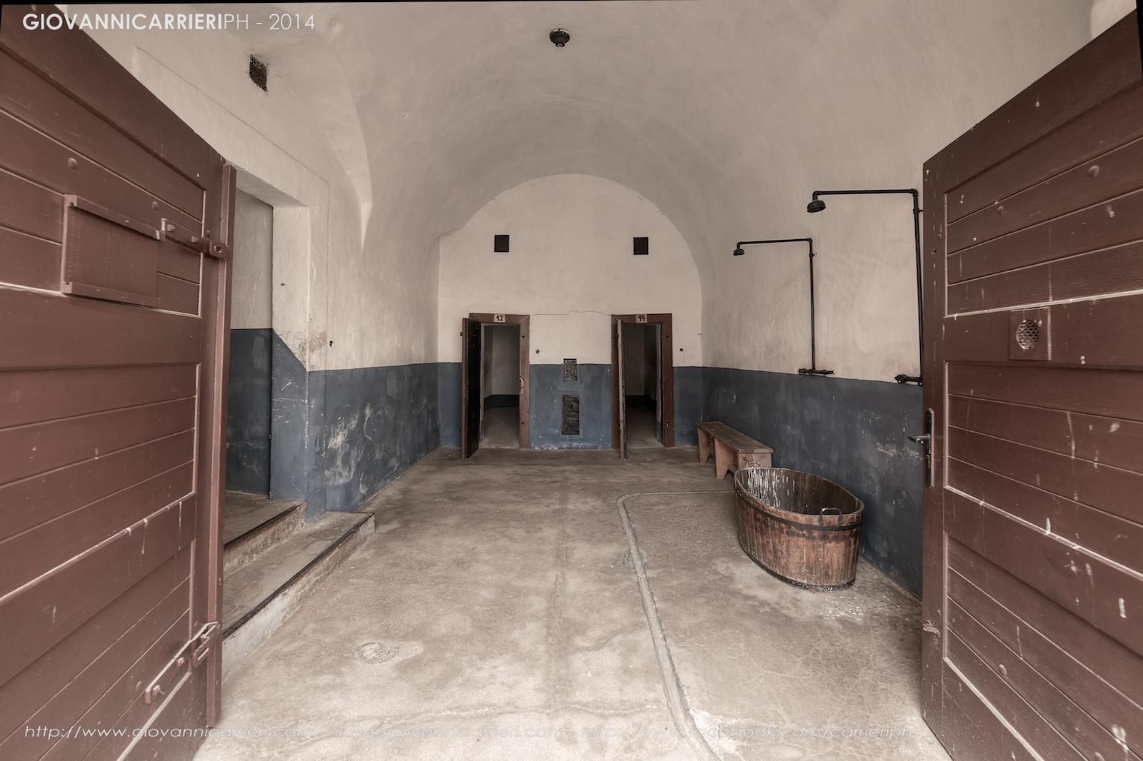I bagni delle celle di isolamento - Theresienstadt