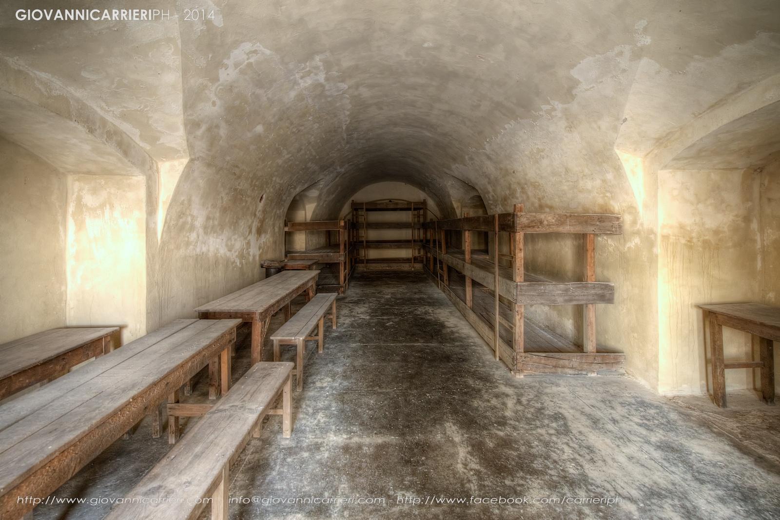 Celle di detenzione in cui erano ammassate circa 600 persone nel quarto cortile - Theresienstadt