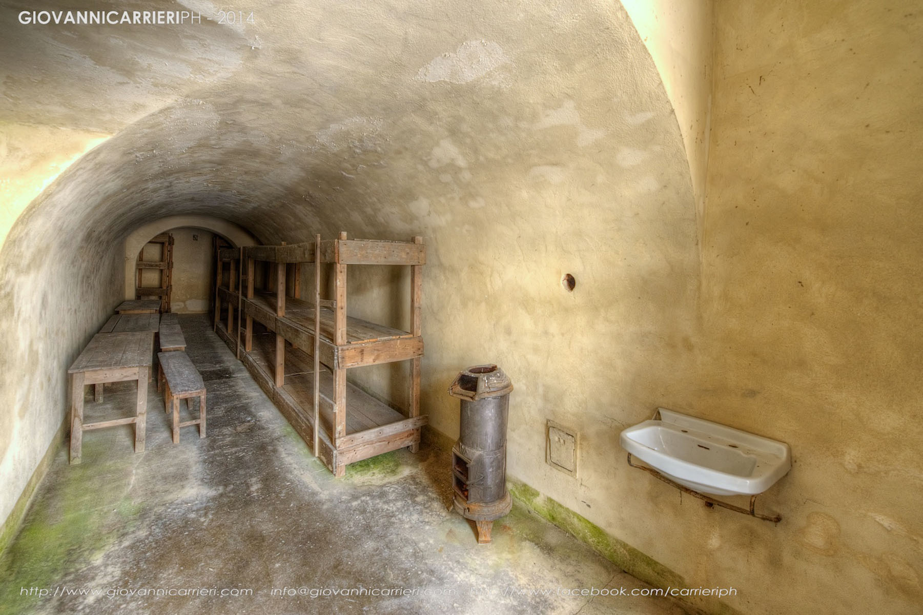 Cells in the fourth courtyard - Theresienstadt