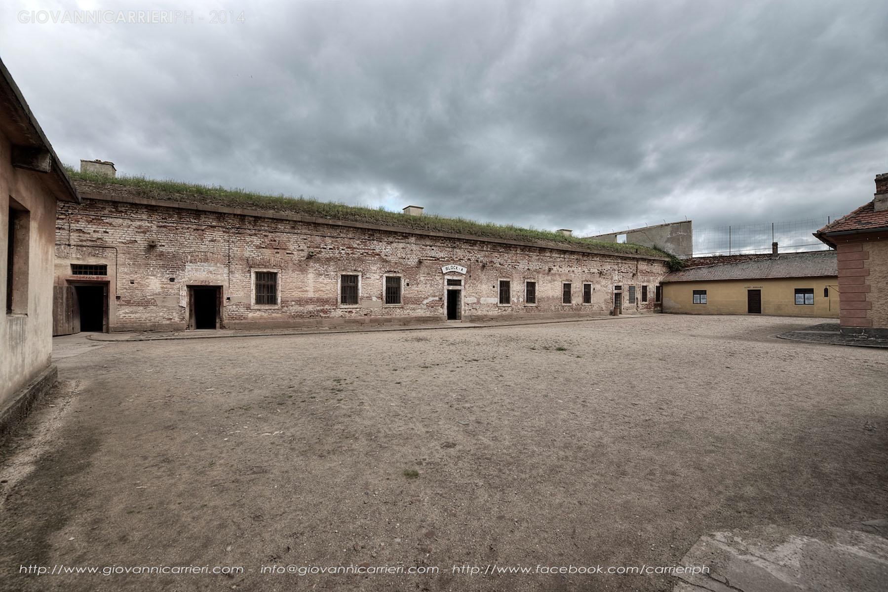 Il cortile del Blocco A e B - Theresienstadt