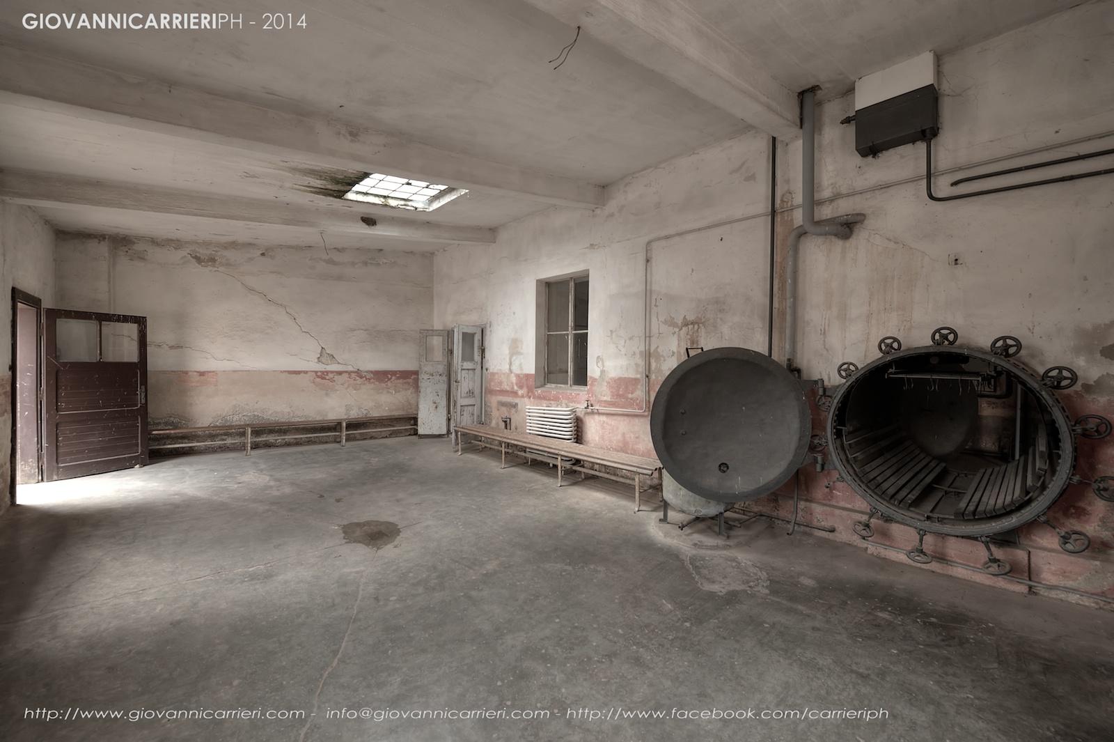 La stanza tecnica per effettuare la disinfestazione - Theresienstadt