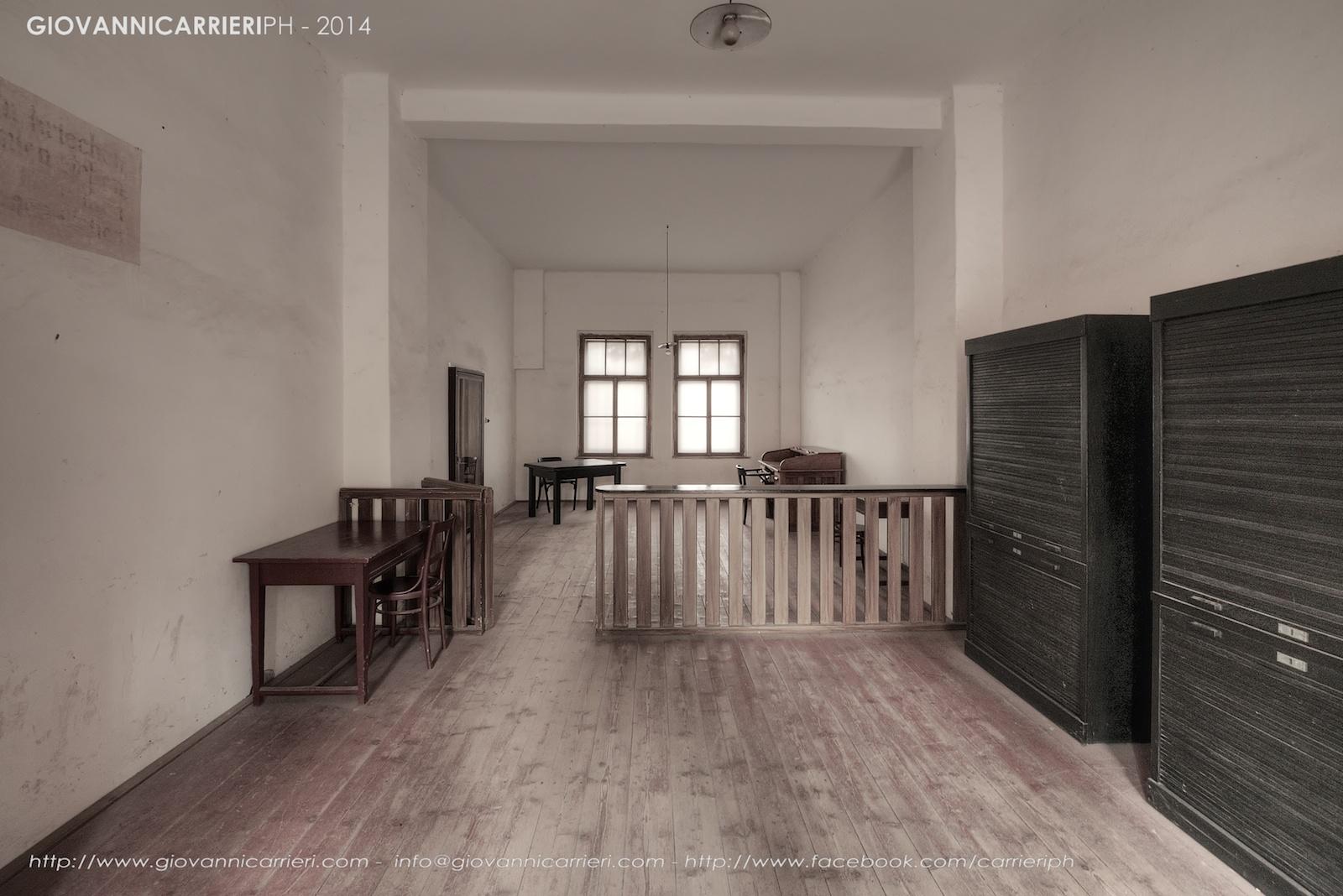 La guardiola dove si tenevano gli interrogatori e si censurava la posta - Theresienstadt