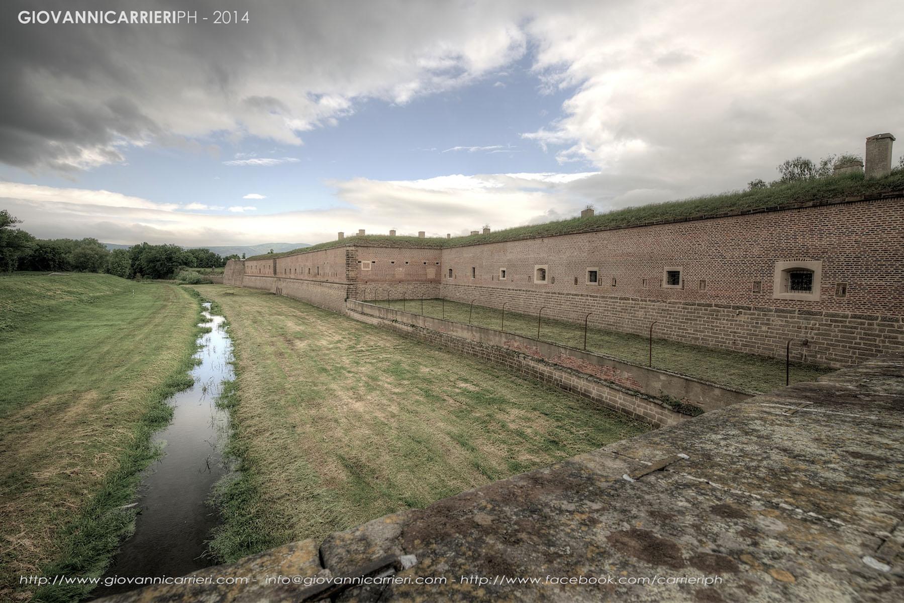 Il perimetro della fortezza piccola Theresienstadt