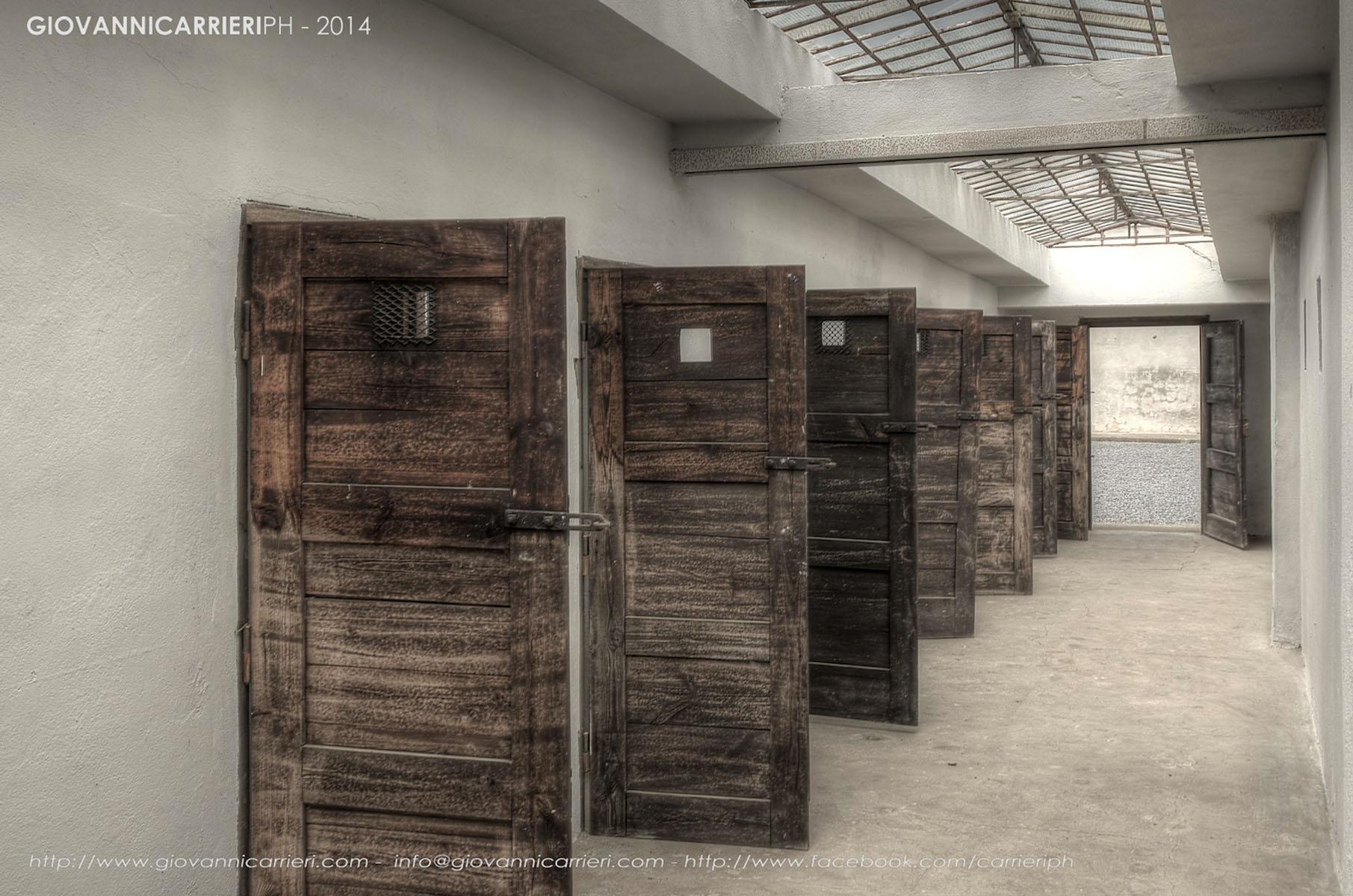 Le porte delle celle di isolamento - Theresienstadt