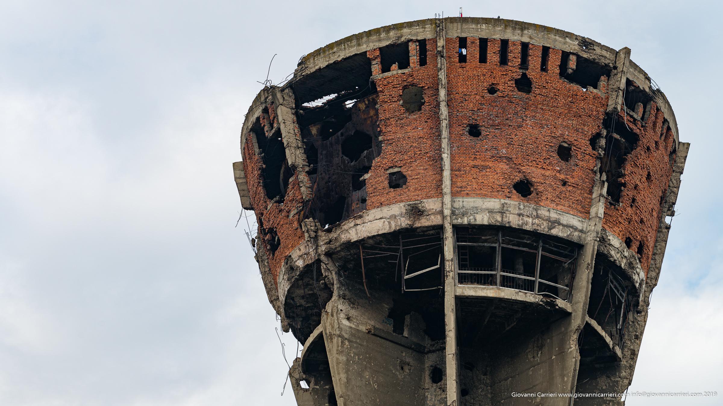 Dettaglio della torre dell'acqua