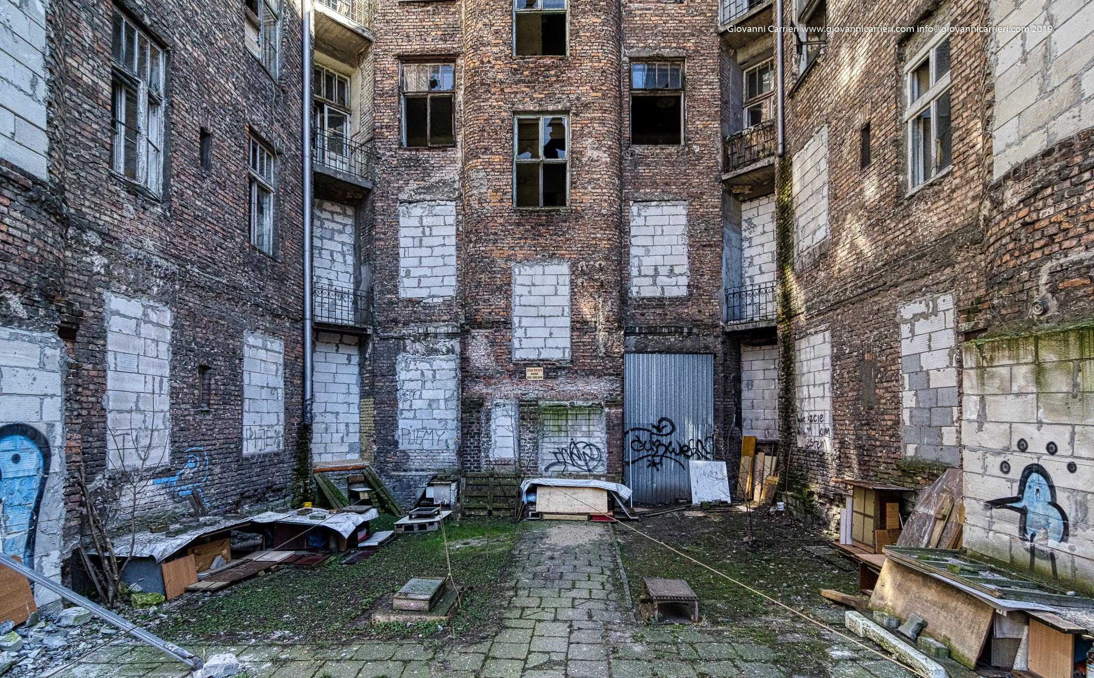 A courtyard of the Ghetto