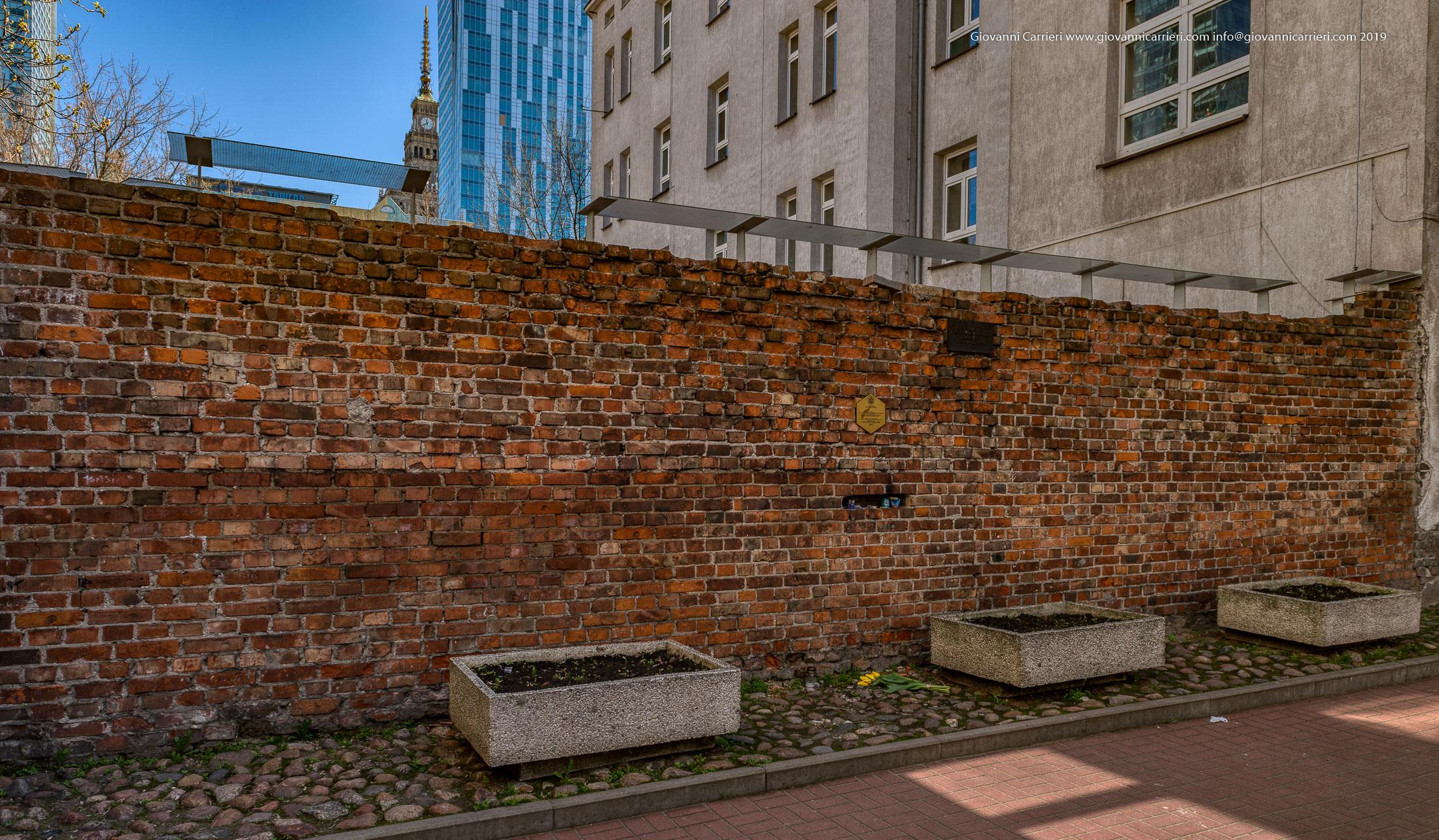 I resti del muro perimetrale del Ghetto di Varsavia