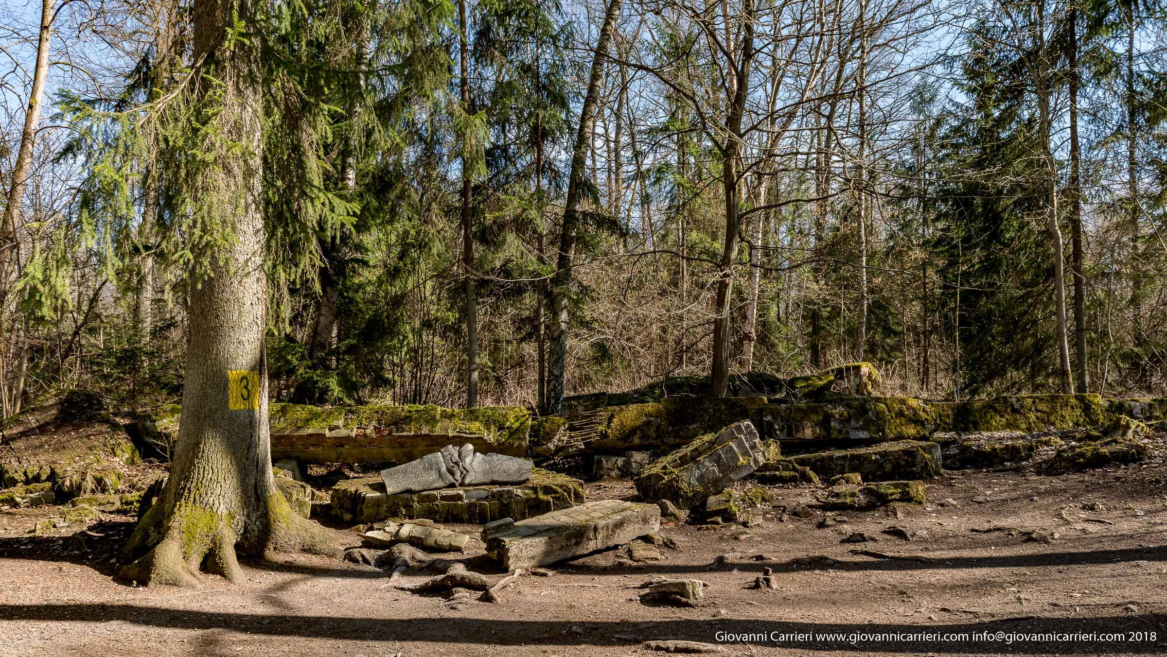 I resti della sala conferenze luogo in cui avvenne l'attentato organizzato da Stauffenberg