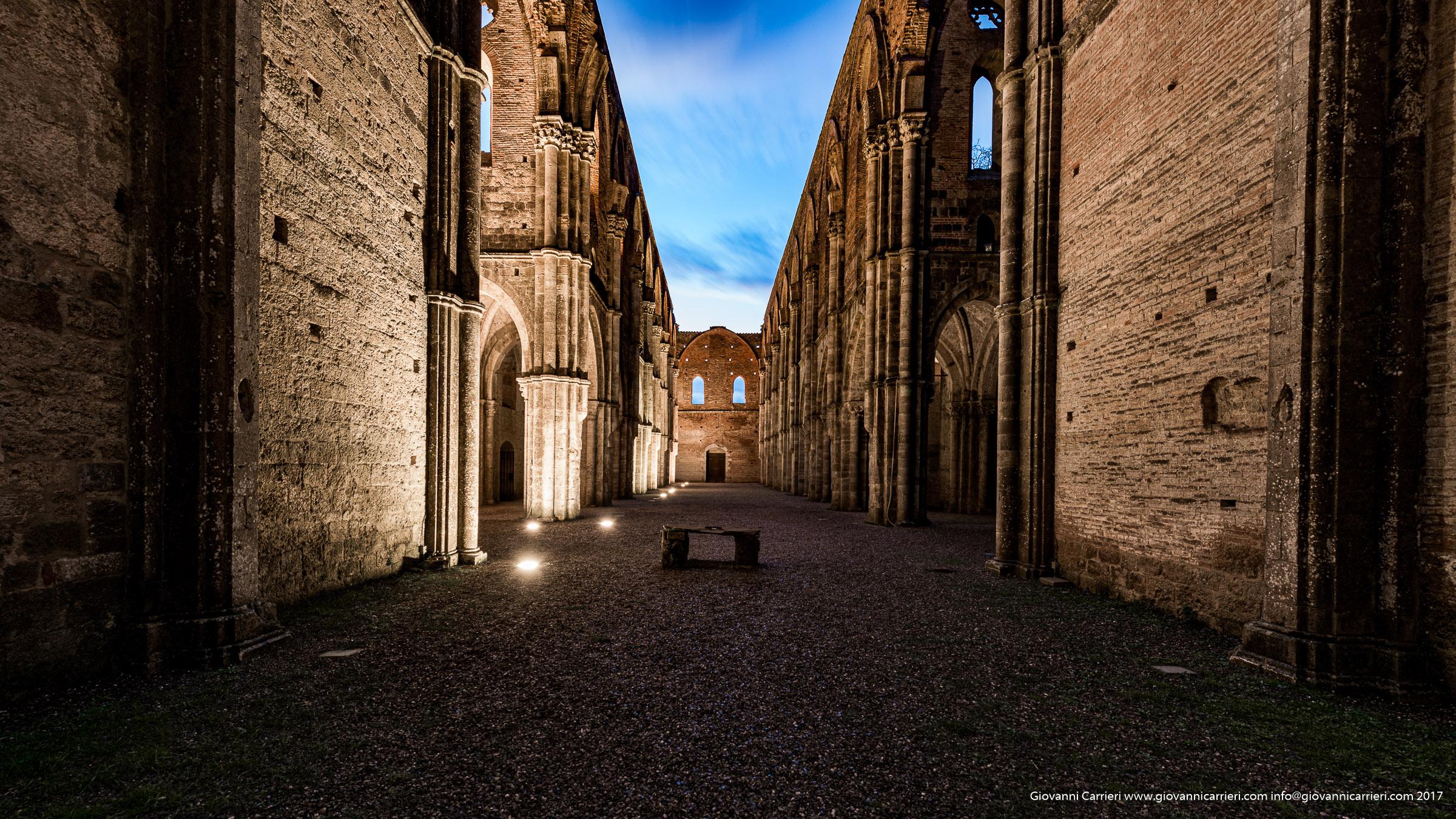 Inside San Galgano Abbey