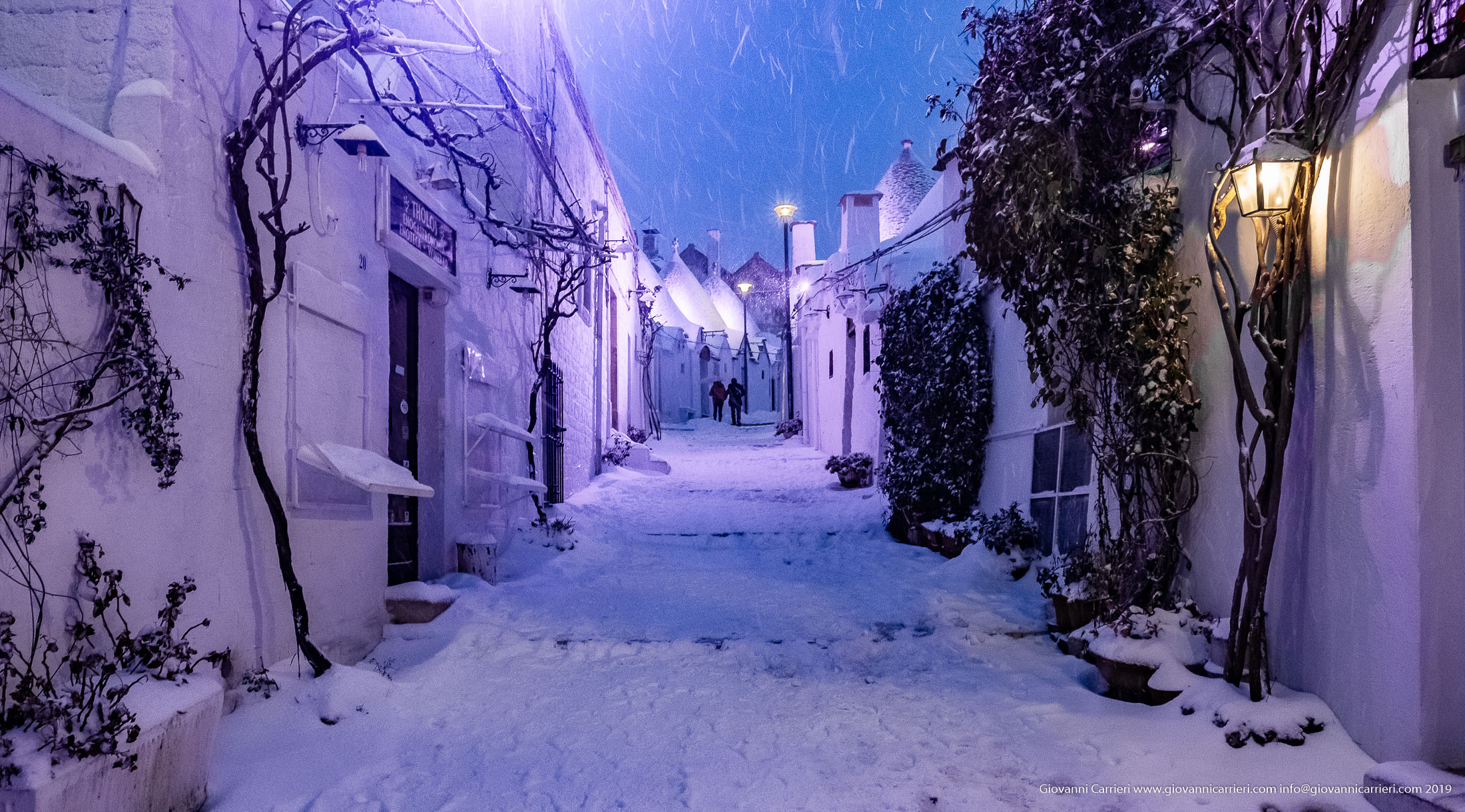 January the 4th, 2019 walking through the historic center of Alberobello