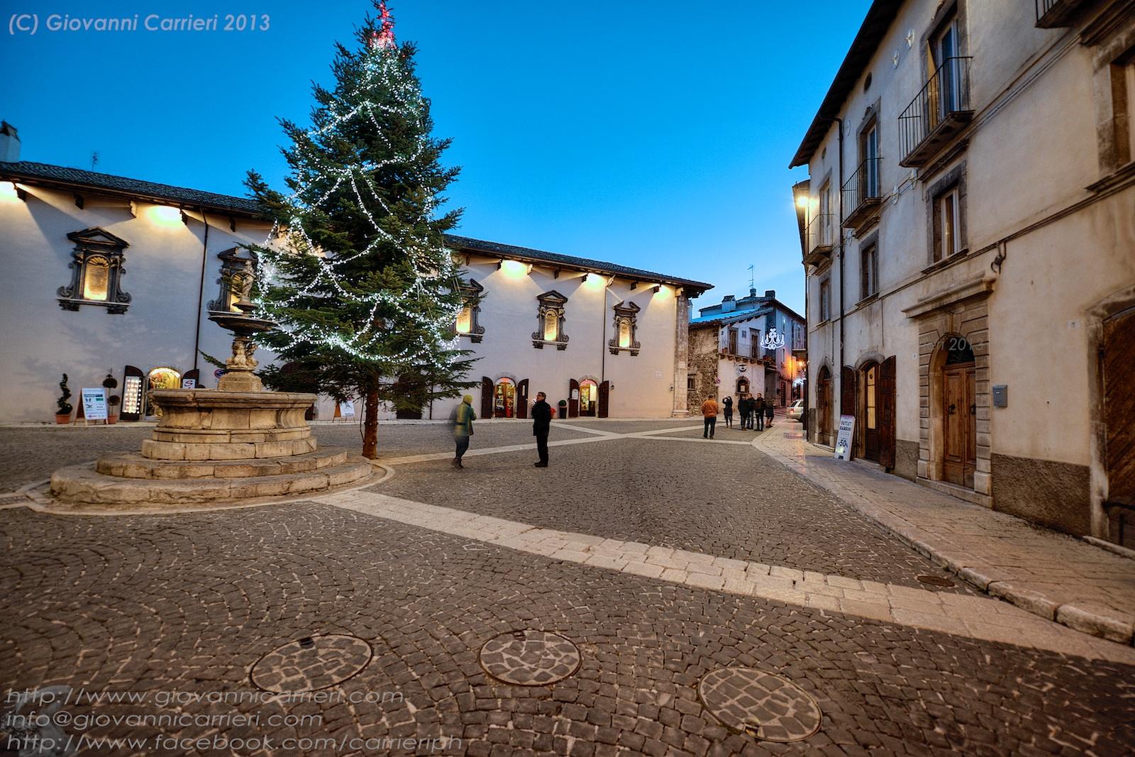Il centro cittadino di Pescocostanzo con lo splendido Palazzo Fanzago