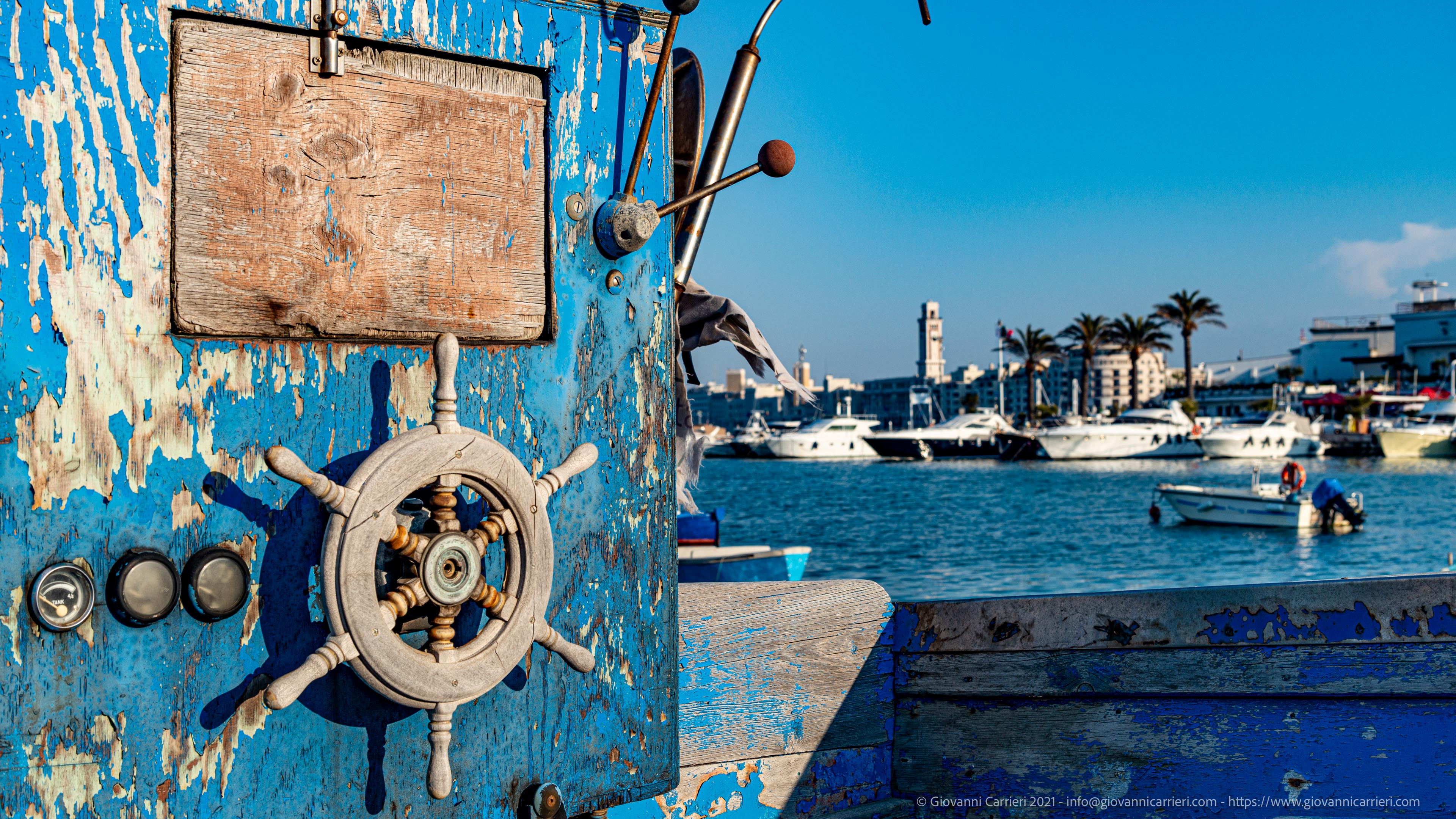 The abandoned wrecks on the waterfront of Bari