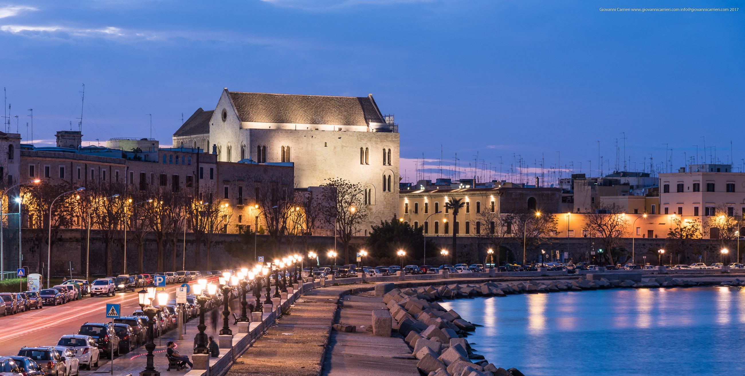 Il lungomare Imperatore Augusto e la muraglia, Bari