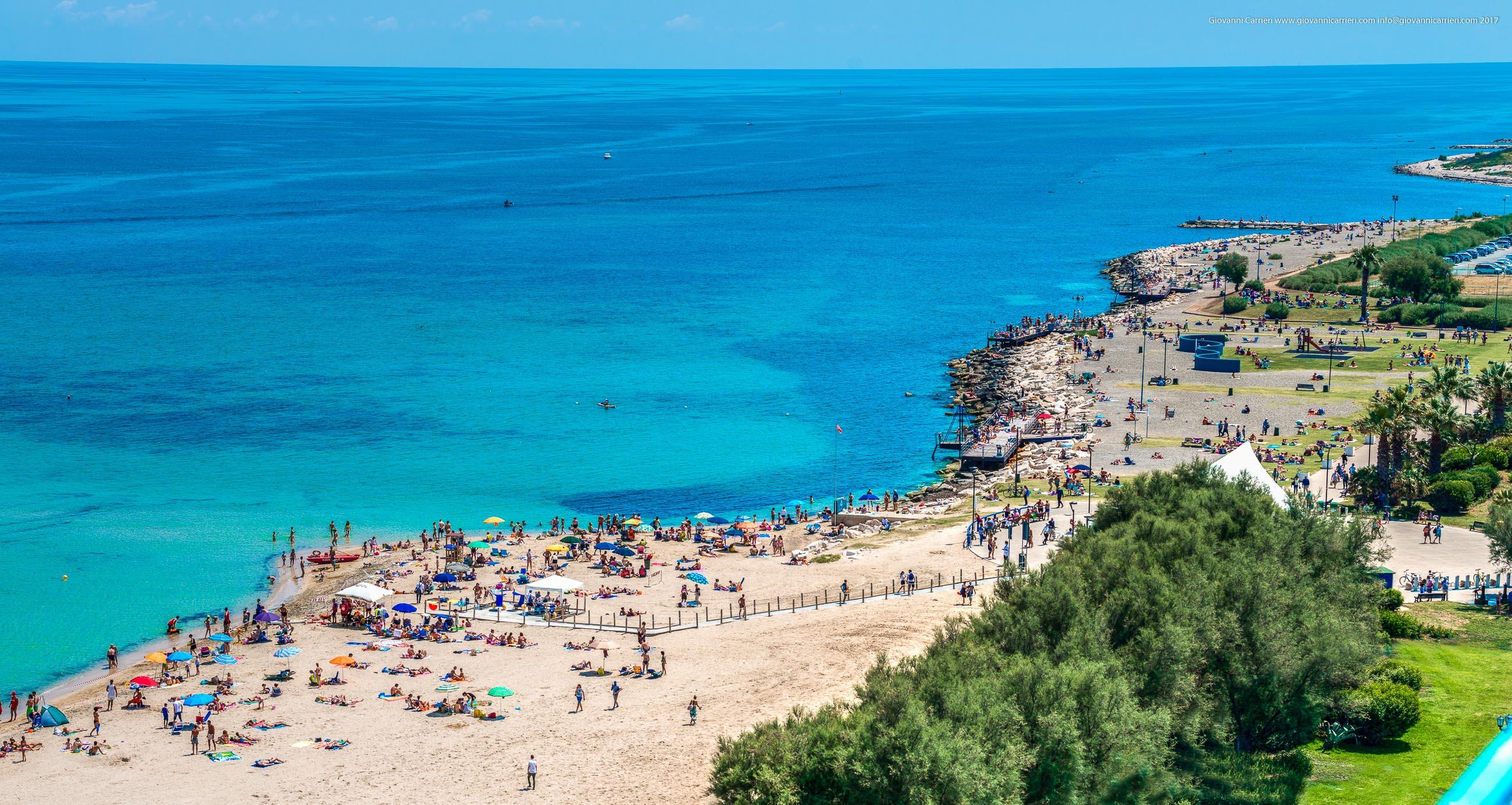 View on the beach of Pane e Pomodoro