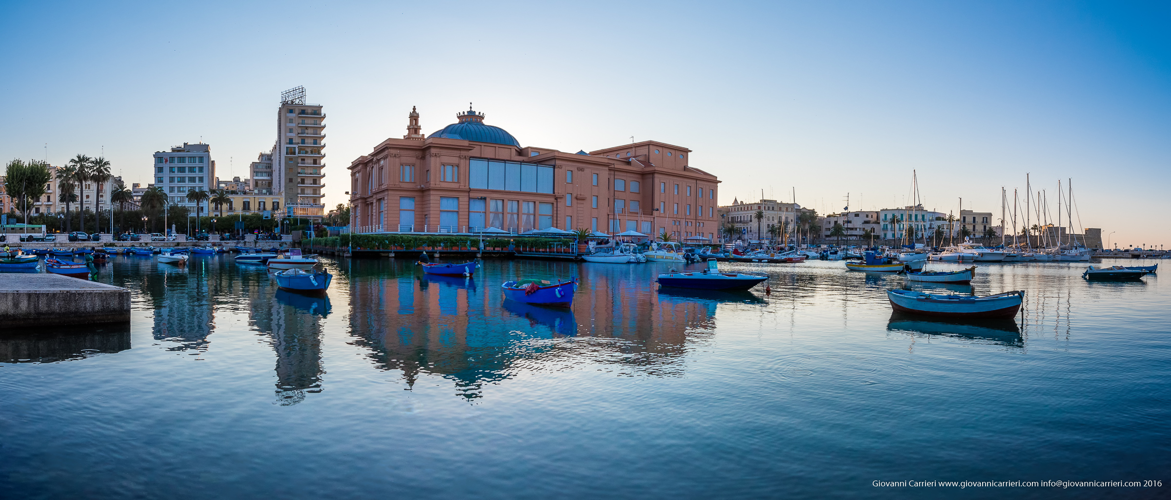 An overview of Bari seafront
