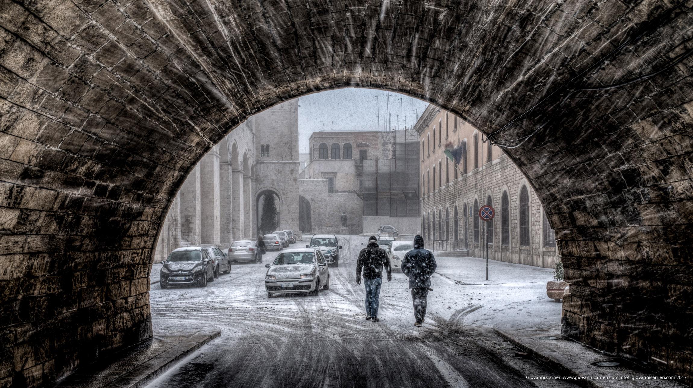 Bari vecchia e la nevicata