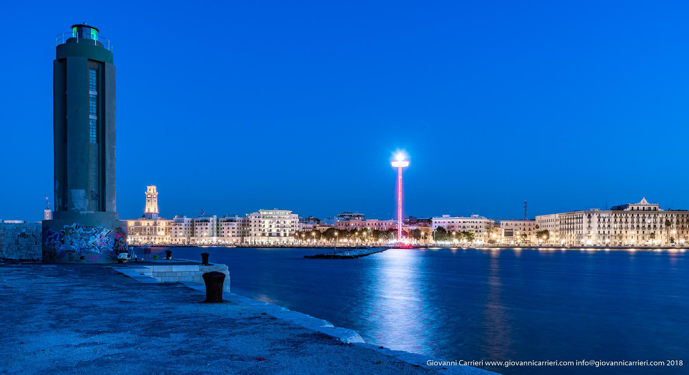 Panoramica della città di Bari vista dal molo di Sant'Antonio