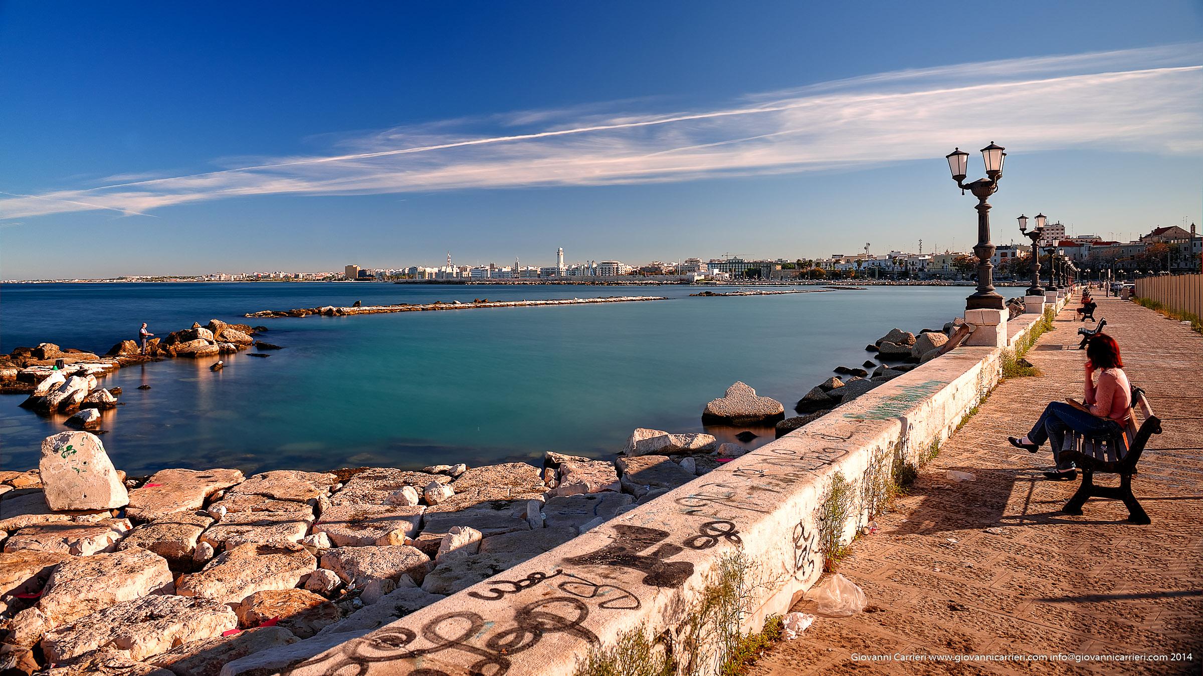 Il lungomare di Bari visto da Viale Augusto Imperatore