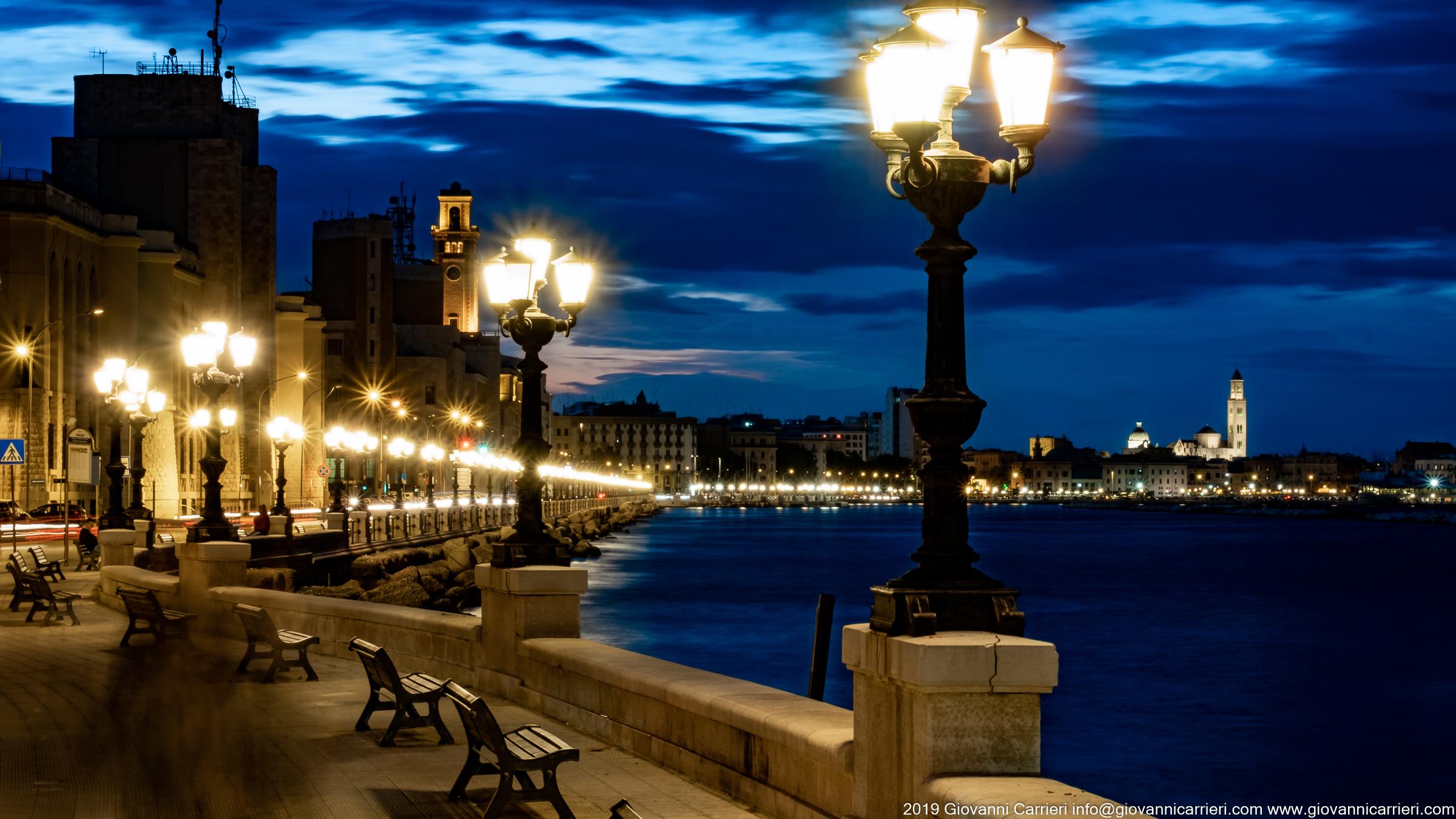 Lungomare in notturna Panoramica vista dal lungomare Armando Perotti, Bari