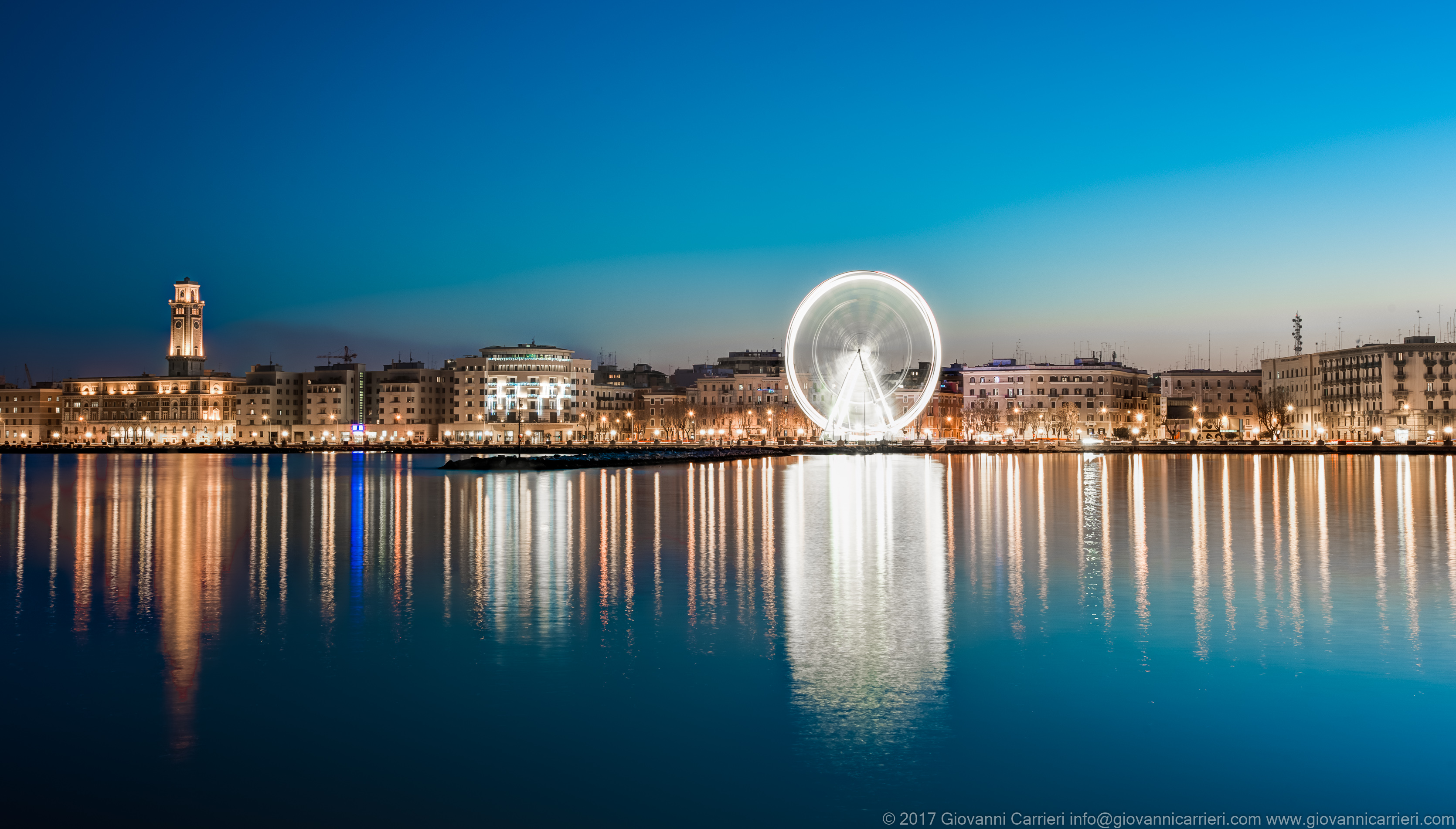 Seafront of Bari and the Ferris wheel