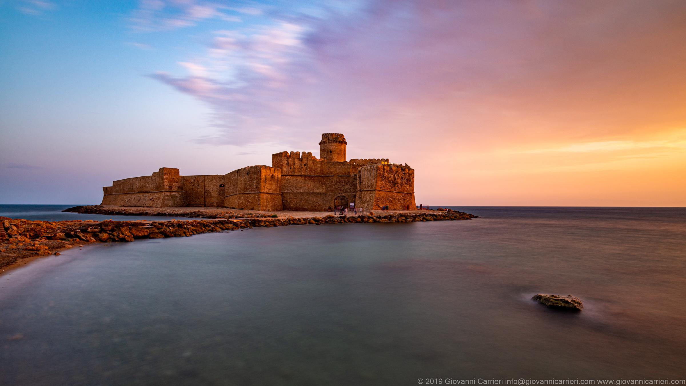 Il Castello Aragonese di Le Castella in provincia di Crotone