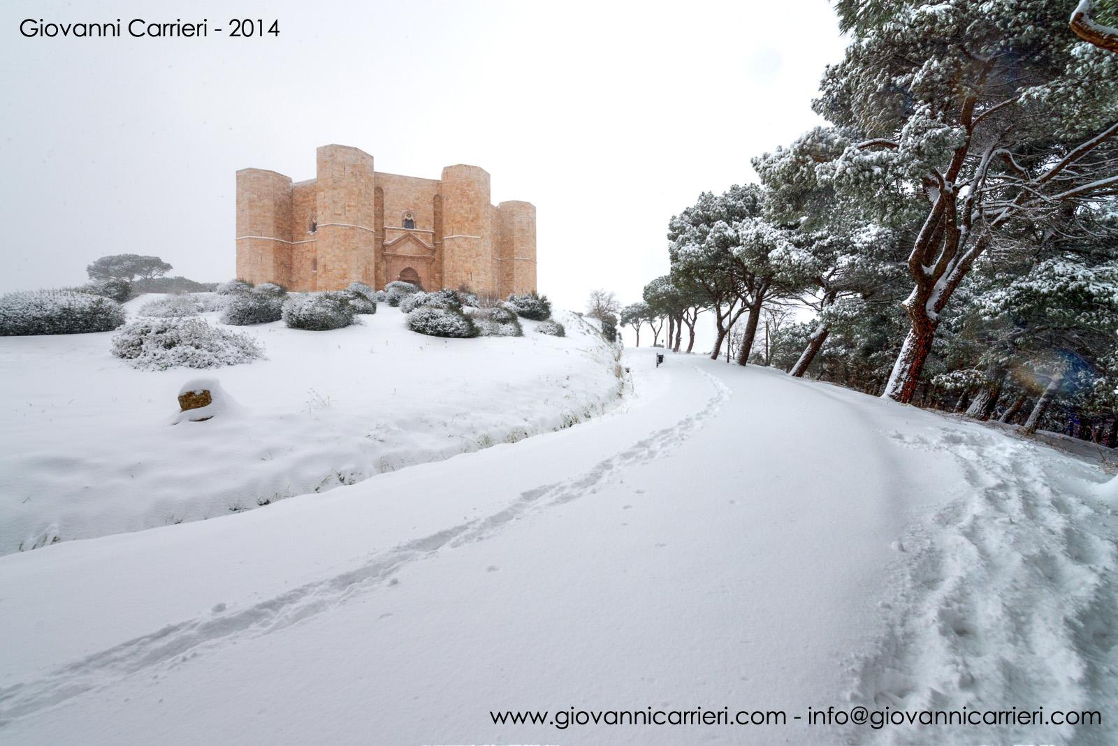Castel del Monte ed il percorso innevato