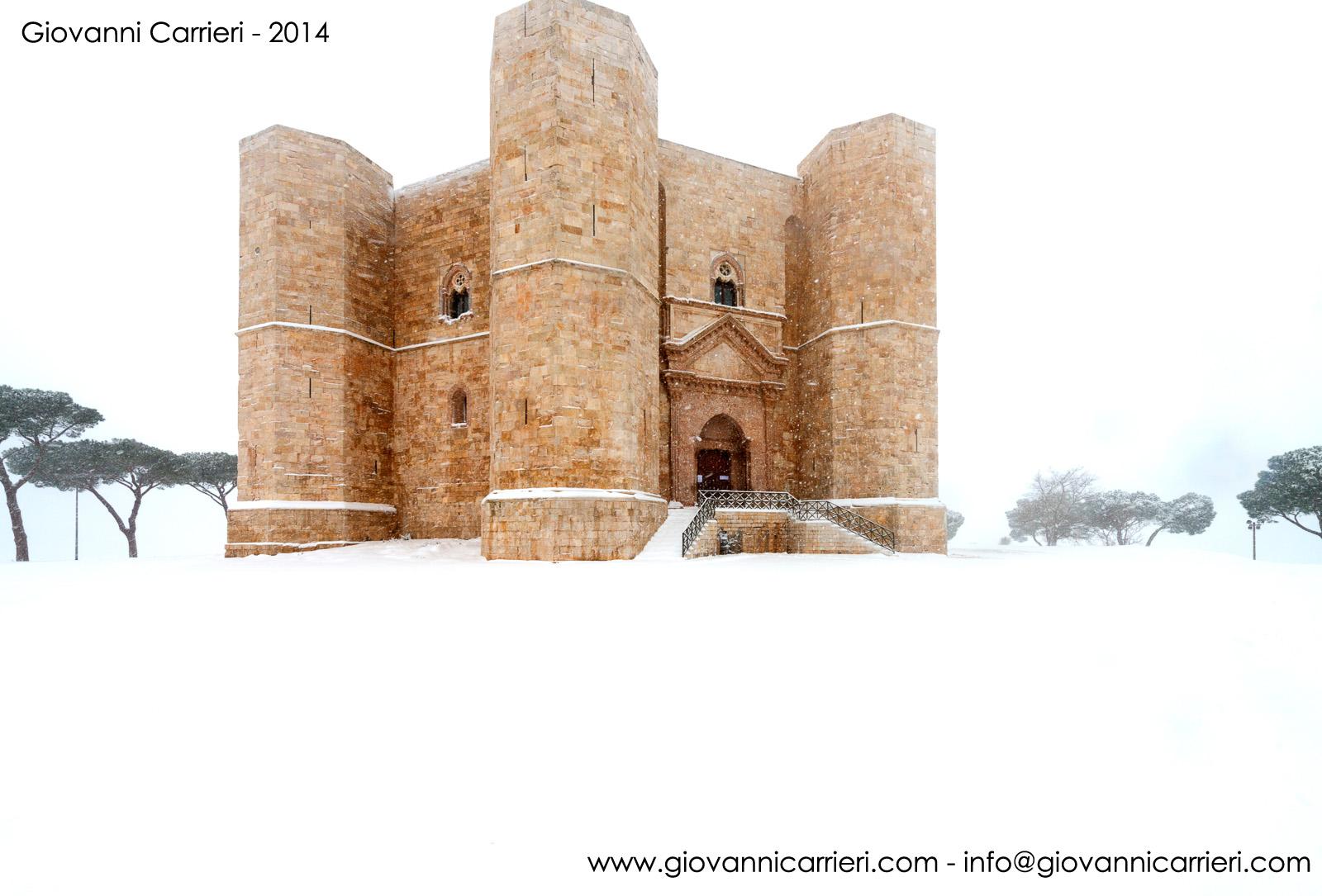 Castel del Monte e l'inverno