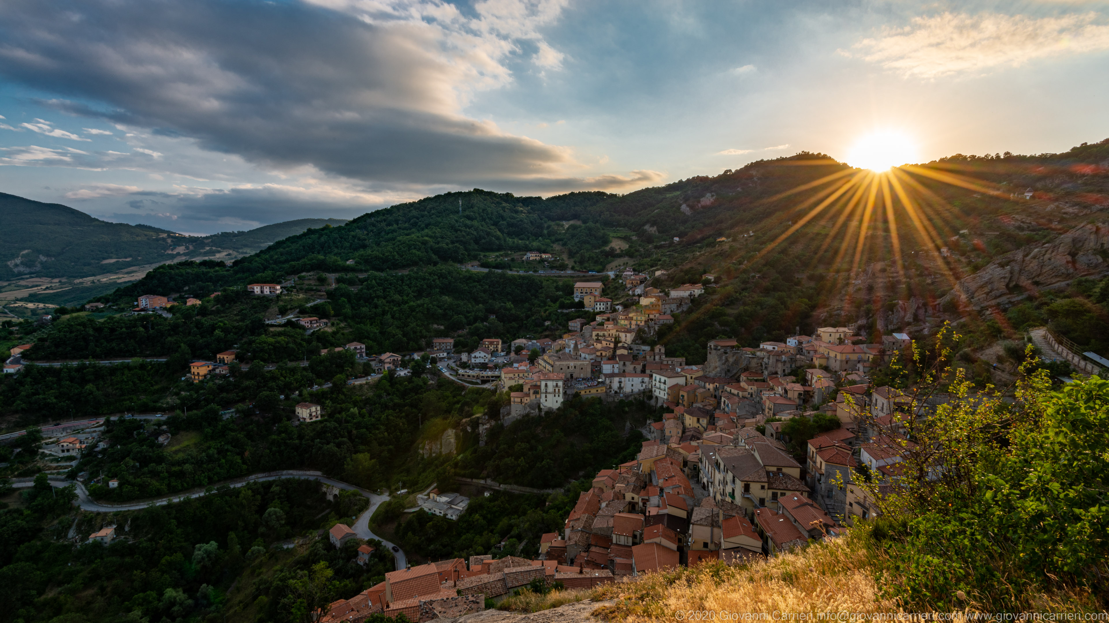 Castelmezzano al tramonto