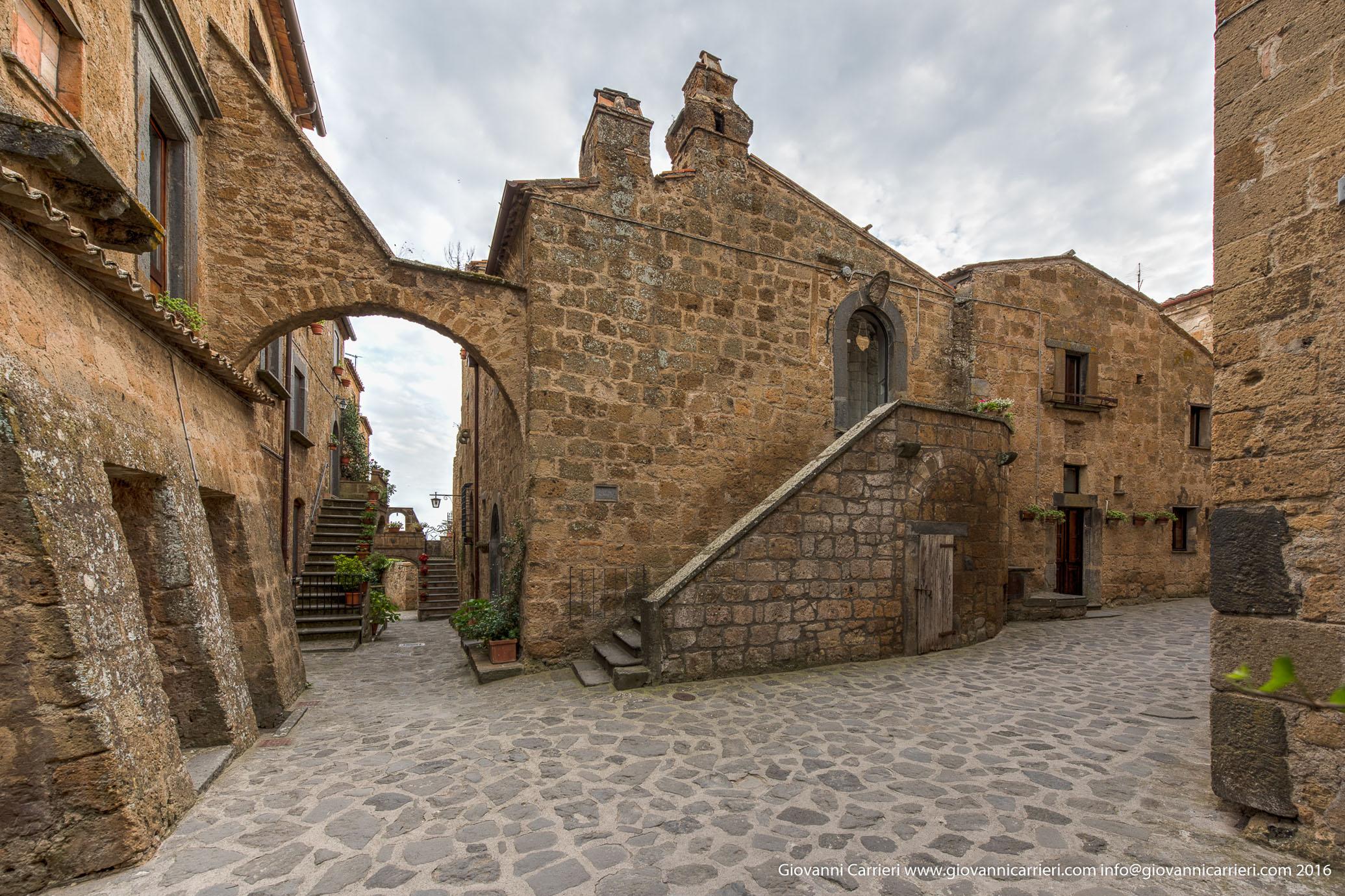 Le costruzioni del centro storico in Civita di Bagnoregio