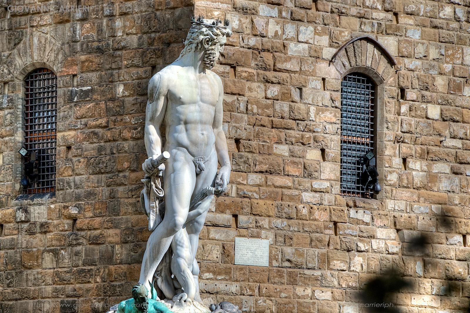 Particolare della fontana del Nettuno - Firenze