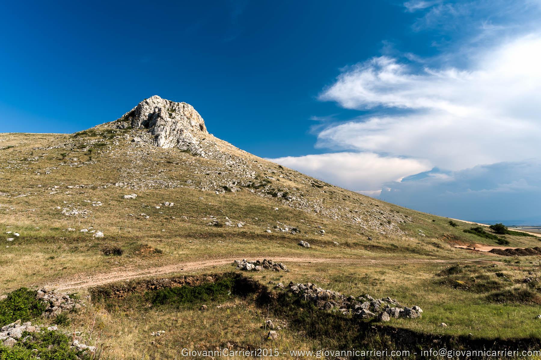 Panorama pugliese delle Murge, dal Castello del Garagnone