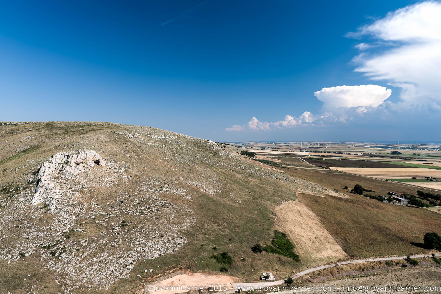 Il panorama delle Murgie visto dalla Rocca del Garagnone