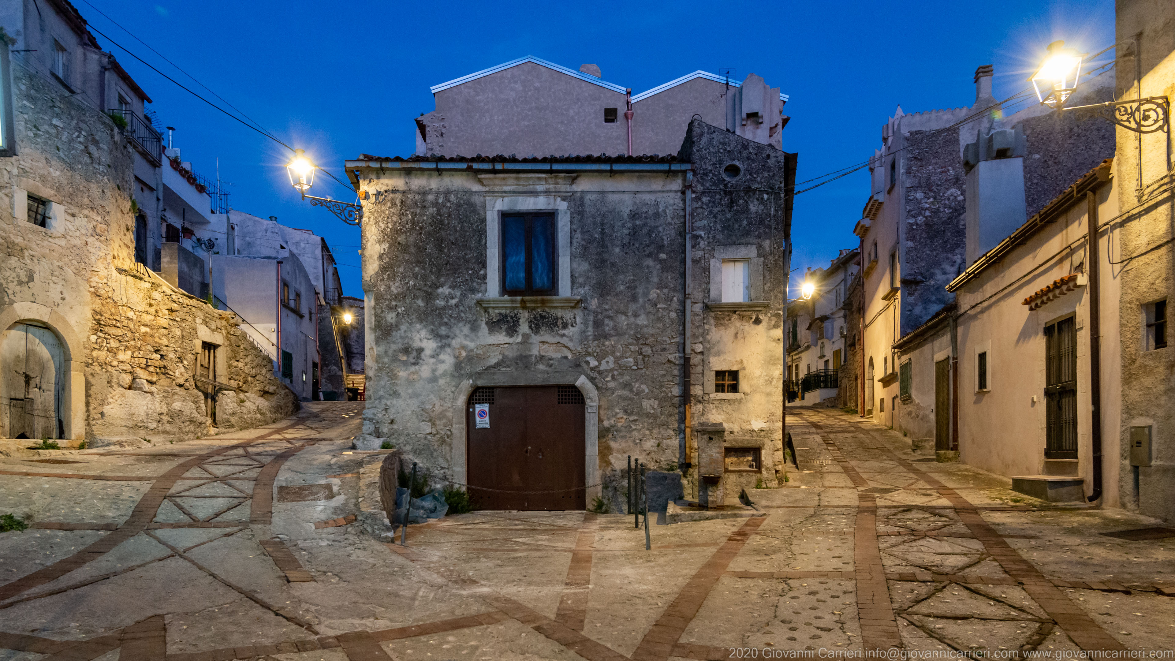 The walls street The buildings in the historic center of Vico del Gargano, in the Casale ward.